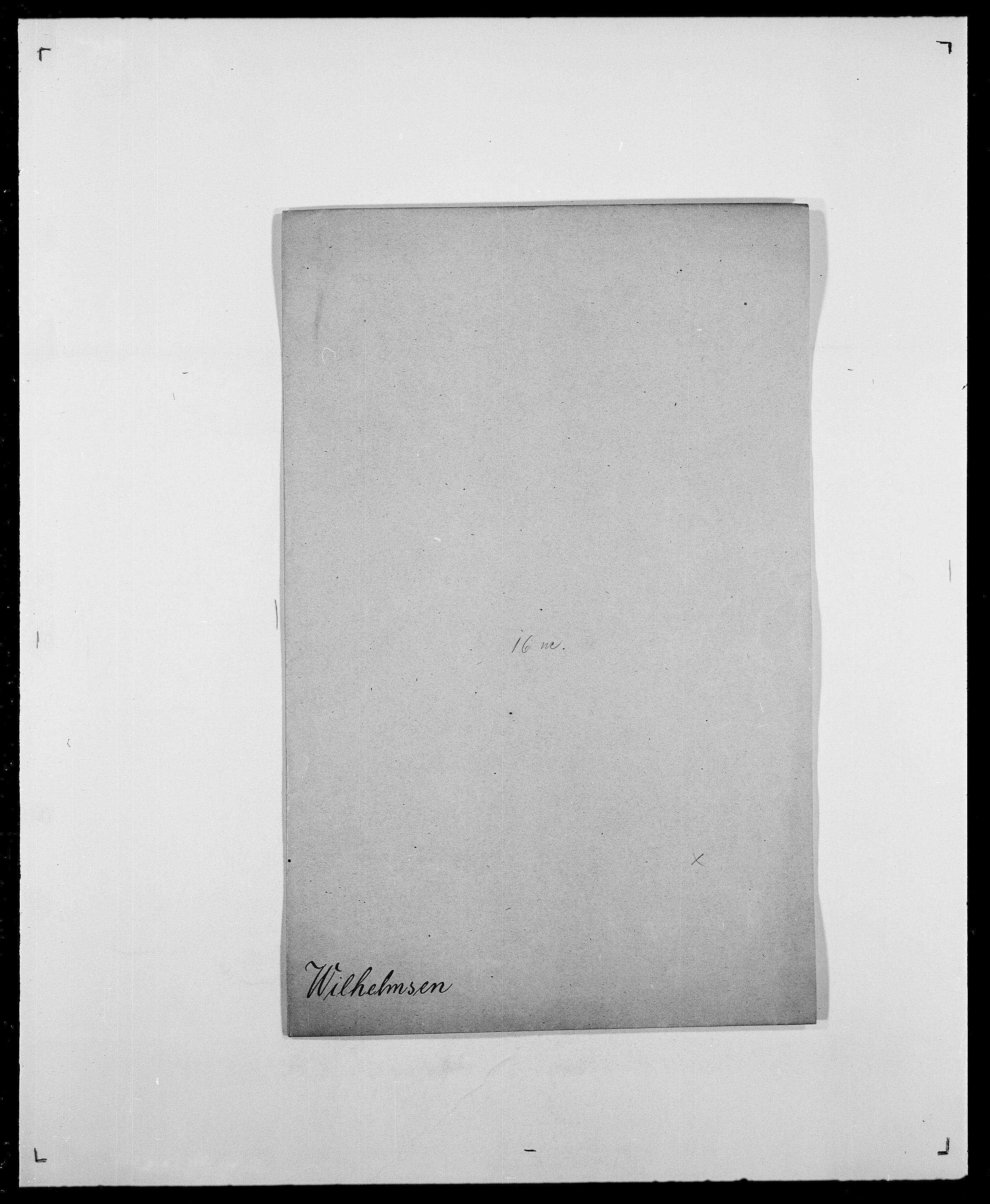 SAO, Delgobe, Charles Antoine - samling, D/Da/L0042: Vilain - Wulf, Wulff, se også Wolf, s. 34