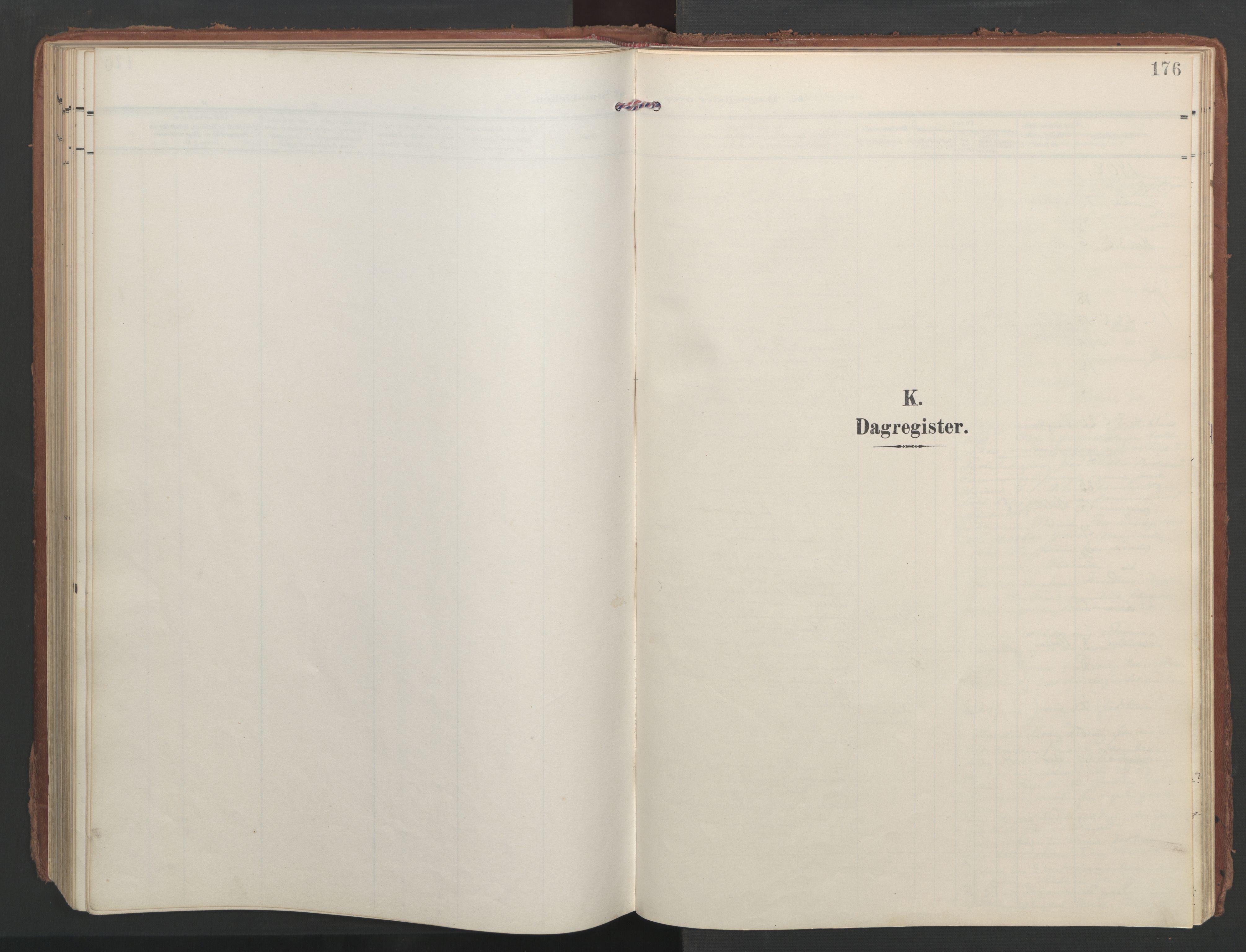 SAT, Ministerialprotokoller, klokkerbøker og fødselsregistre - Møre og Romsdal, 547/L0605: Ministerialbok nr. 547A07, 1907-1936, s. 176