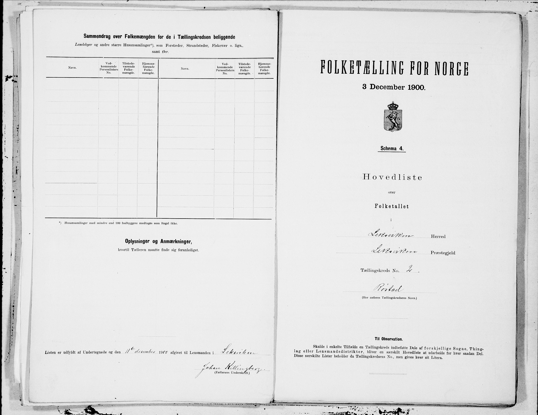 SAT, Folketelling 1900 for 1718 Leksvik herred, 1900, s. 4
