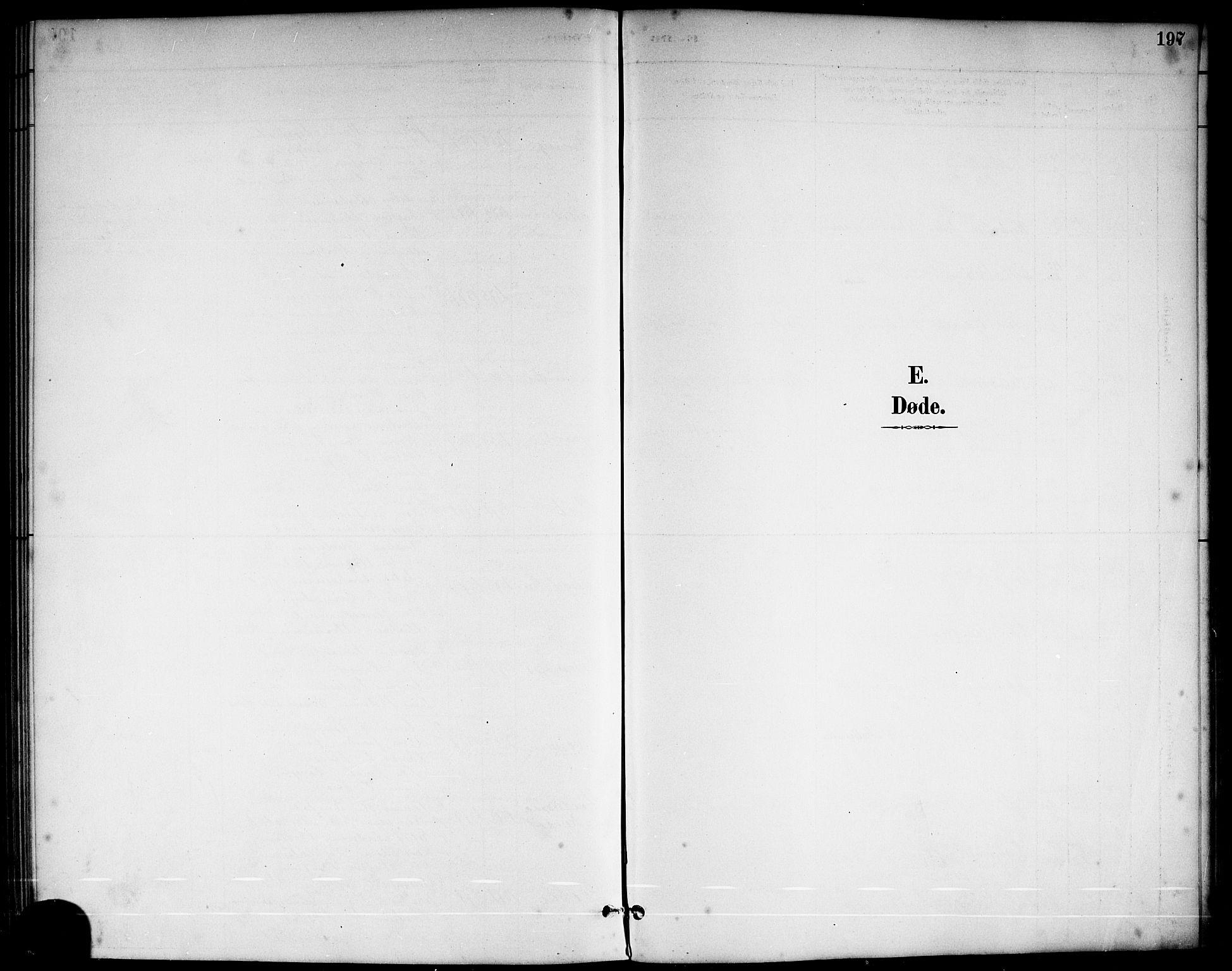 SAKO, Sannidal kirkebøker, G/Ga/L0003: Klokkerbok nr. 3, 1887-1922, s. 197