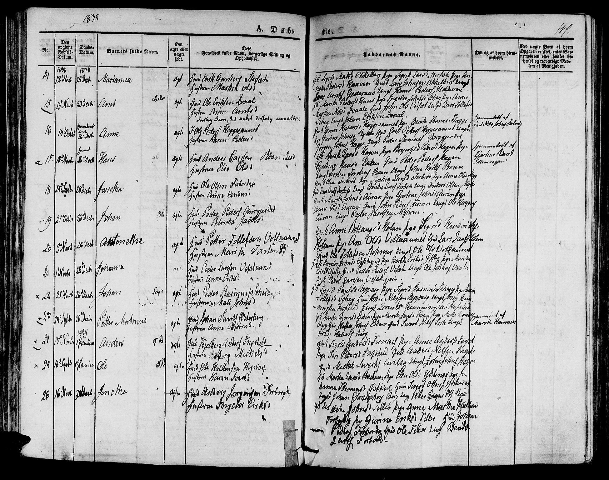SAT, Ministerialprotokoller, klokkerbøker og fødselsregistre - Nord-Trøndelag, 709/L0071: Ministerialbok nr. 709A11, 1833-1844, s. 117