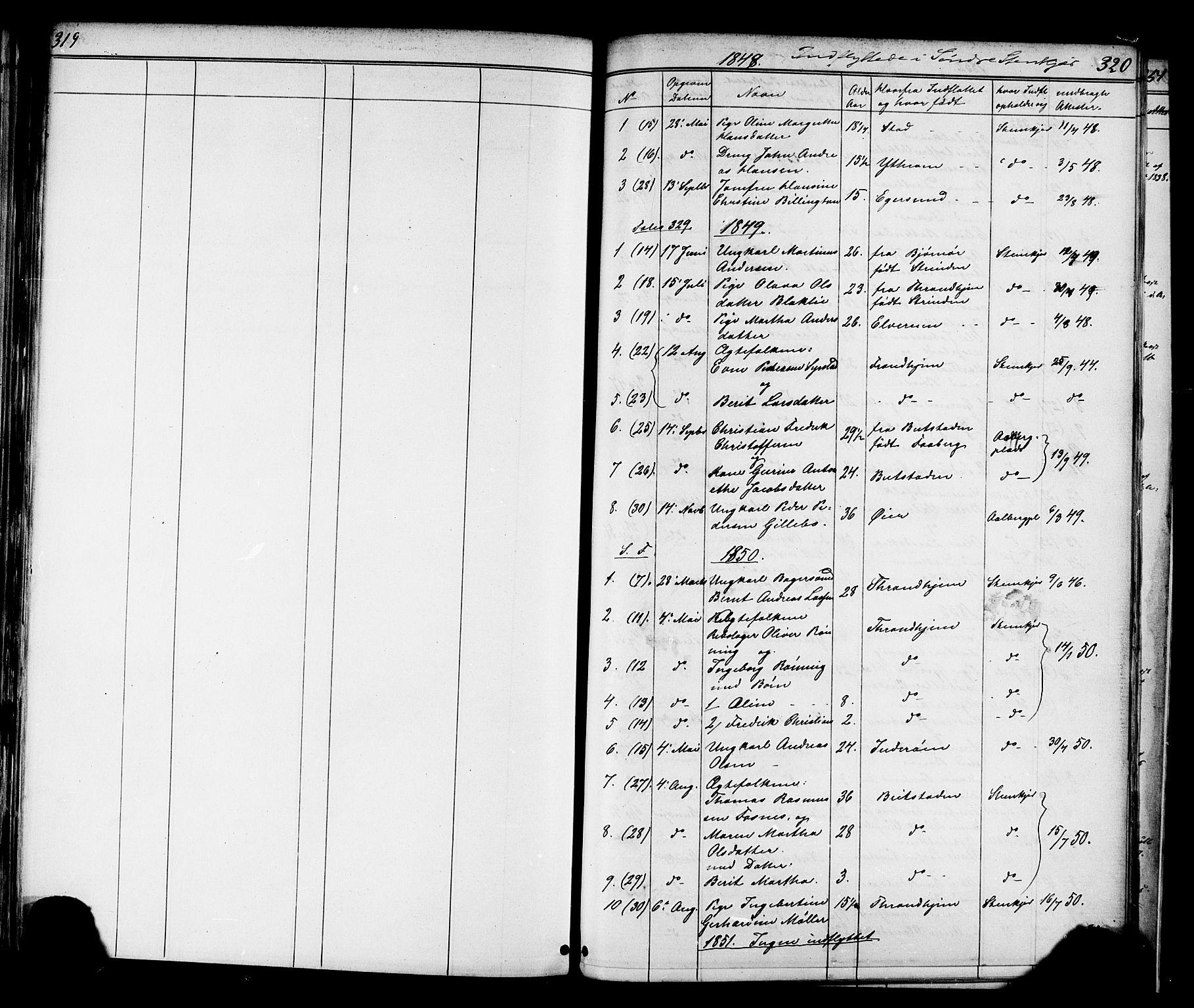 SAT, Ministerialprotokoller, klokkerbøker og fødselsregistre - Nord-Trøndelag, 739/L0367: Ministerialbok nr. 739A01 /1, 1838-1868, s. 319-320