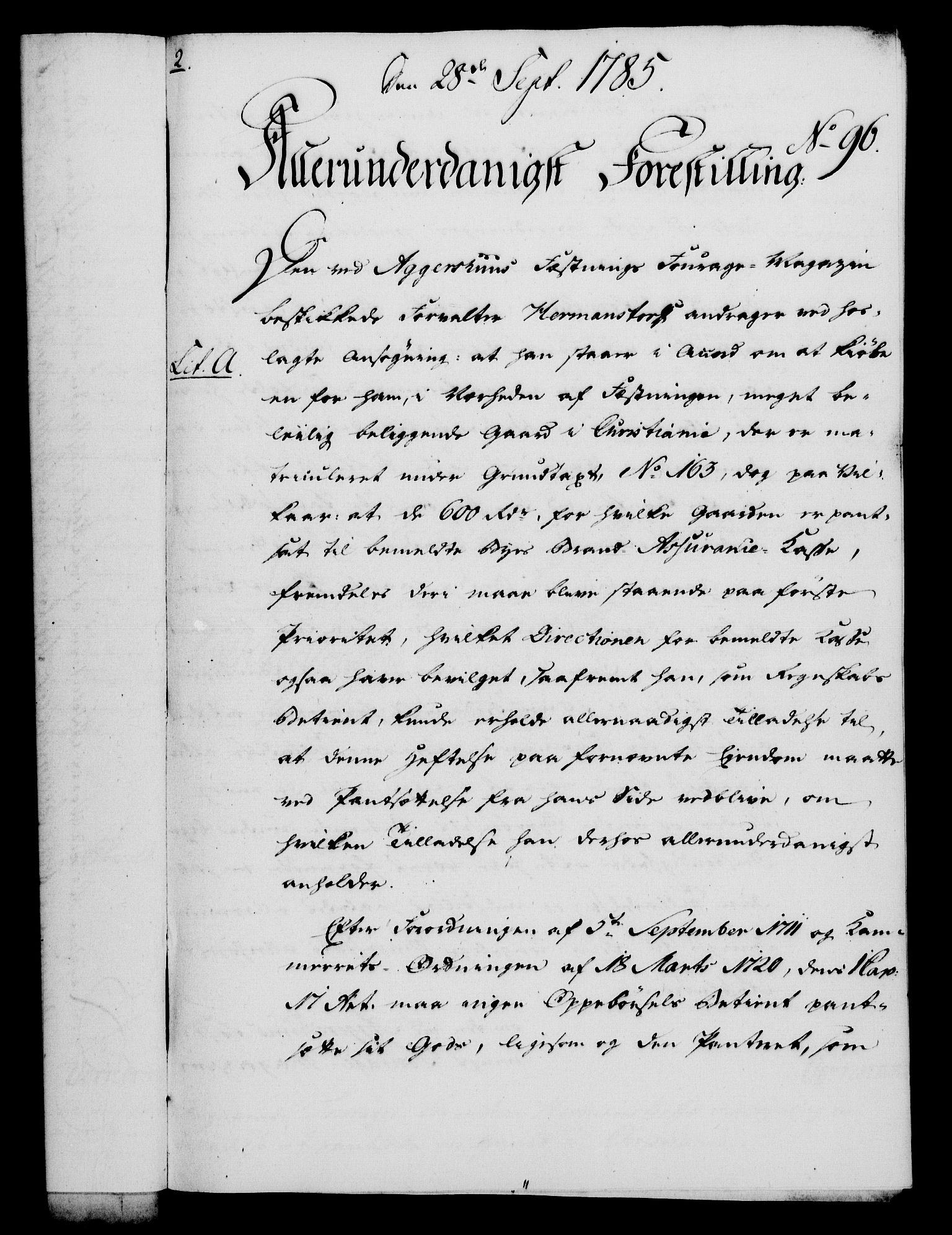 RA, Rentekammeret, Kammerkanselliet, G/Gf/Gfa/L0067: Norsk relasjons- og resolusjonsprotokoll (merket RK 52.67), 1785, s. 782
