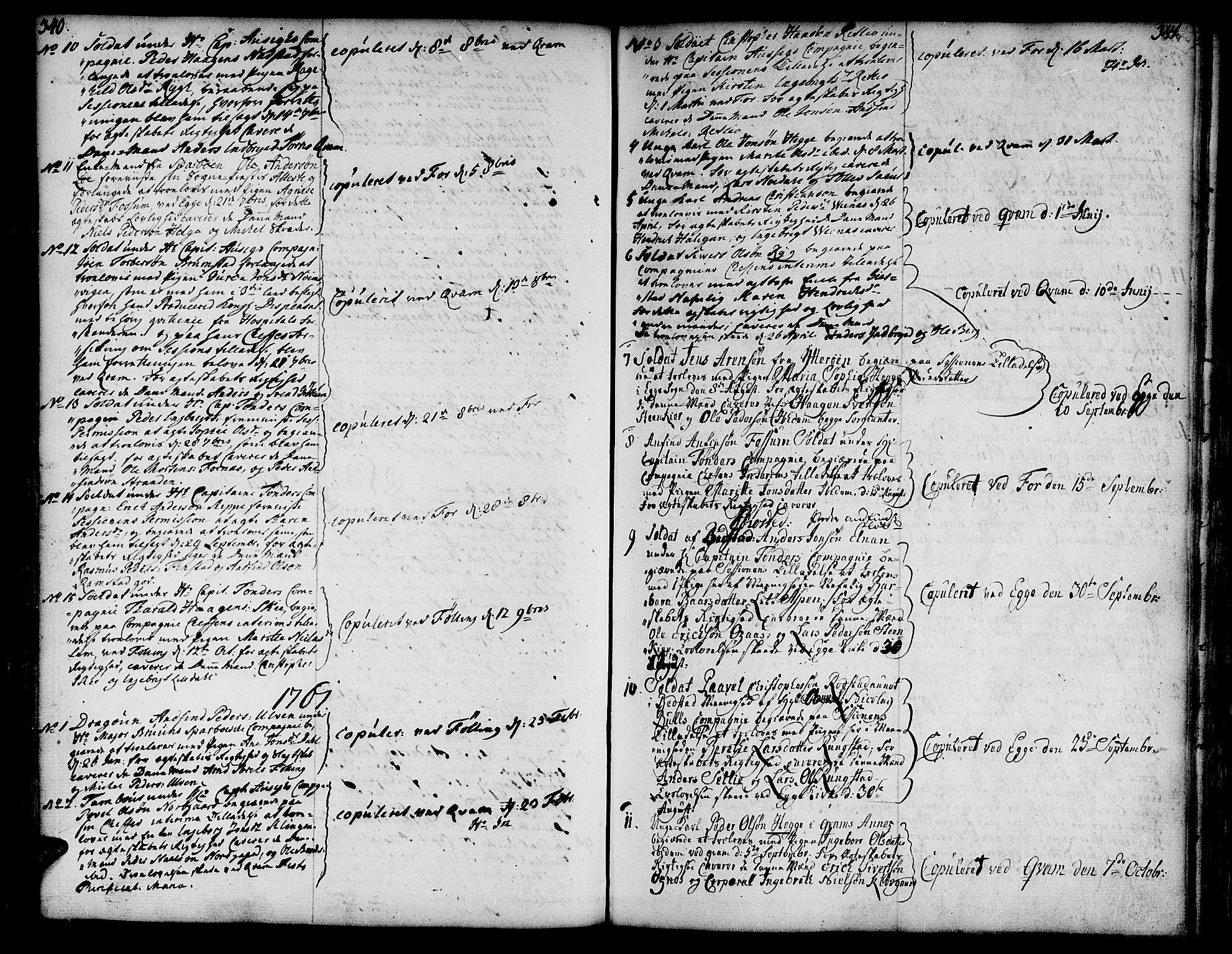 SAT, Ministerialprotokoller, klokkerbøker og fødselsregistre - Nord-Trøndelag, 746/L0440: Ministerialbok nr. 746A02, 1760-1815, s. 340-341