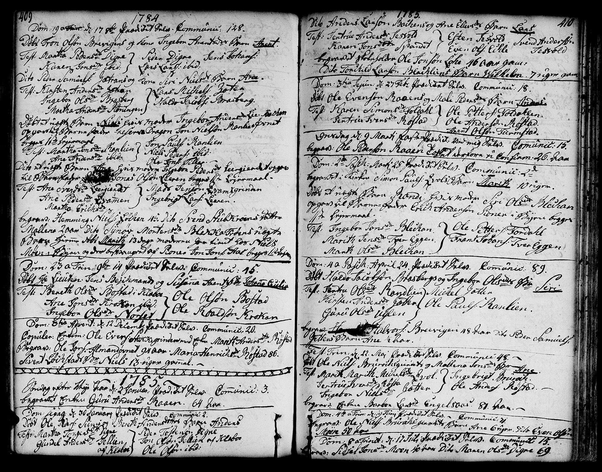 SAT, Ministerialprotokoller, klokkerbøker og fødselsregistre - Sør-Trøndelag, 606/L0282: Ministerialbok nr. 606A02 /3, 1781-1817, s. 409-410