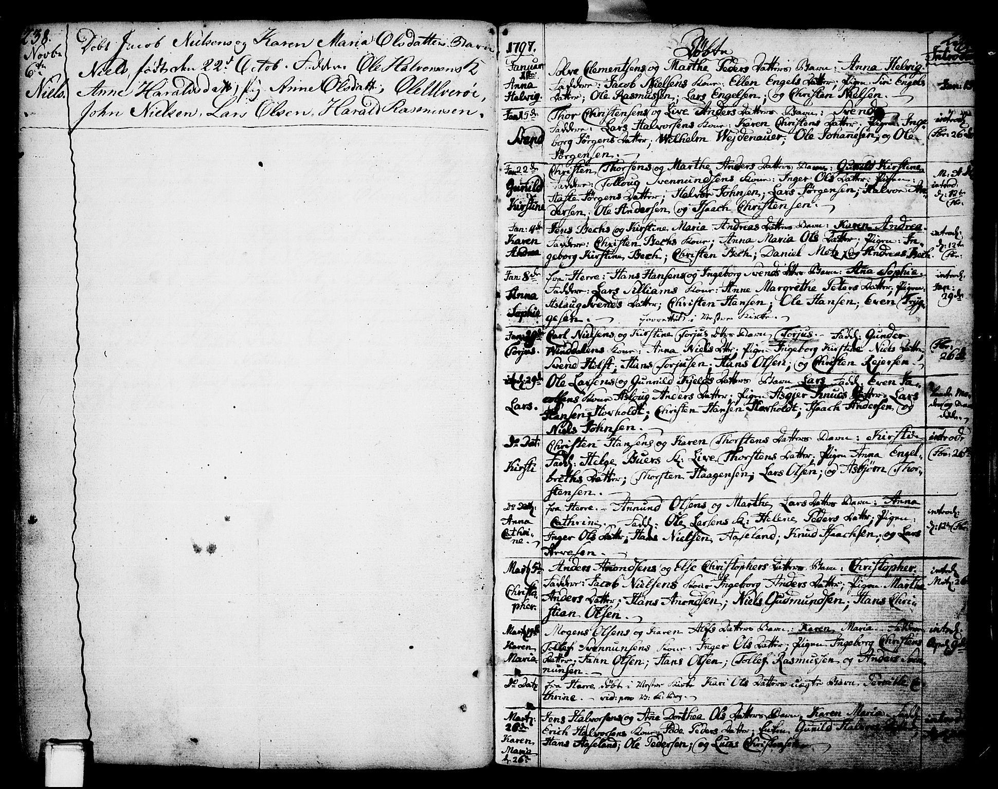 SAKO, Porsgrunn kirkebøker , F/Fa/L0002: Ministerialbok nr. 2, 1764-1814, s. 238-239
