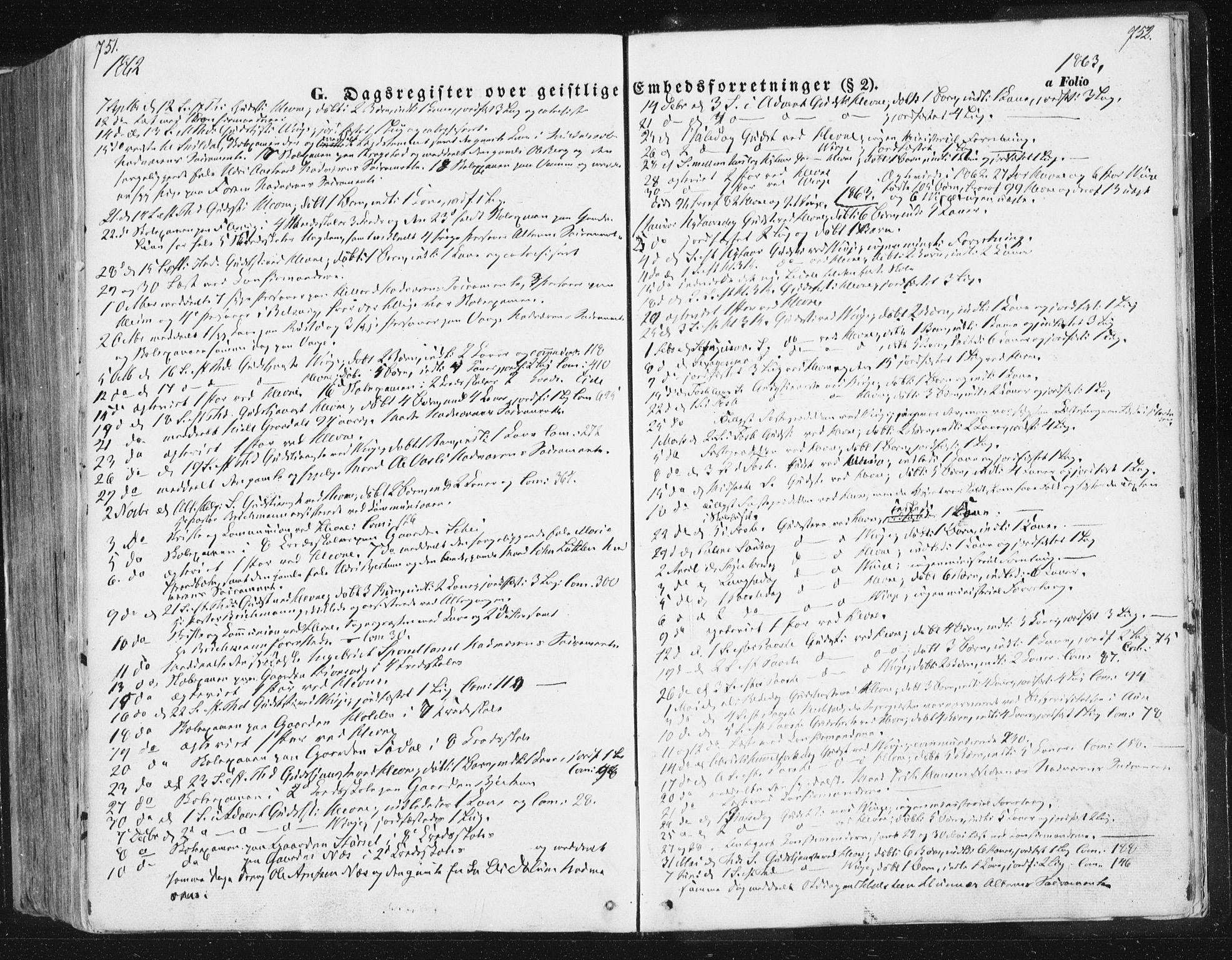 SAT, Ministerialprotokoller, klokkerbøker og fødselsregistre - Sør-Trøndelag, 630/L0494: Ministerialbok nr. 630A07, 1852-1868, s. 751-752