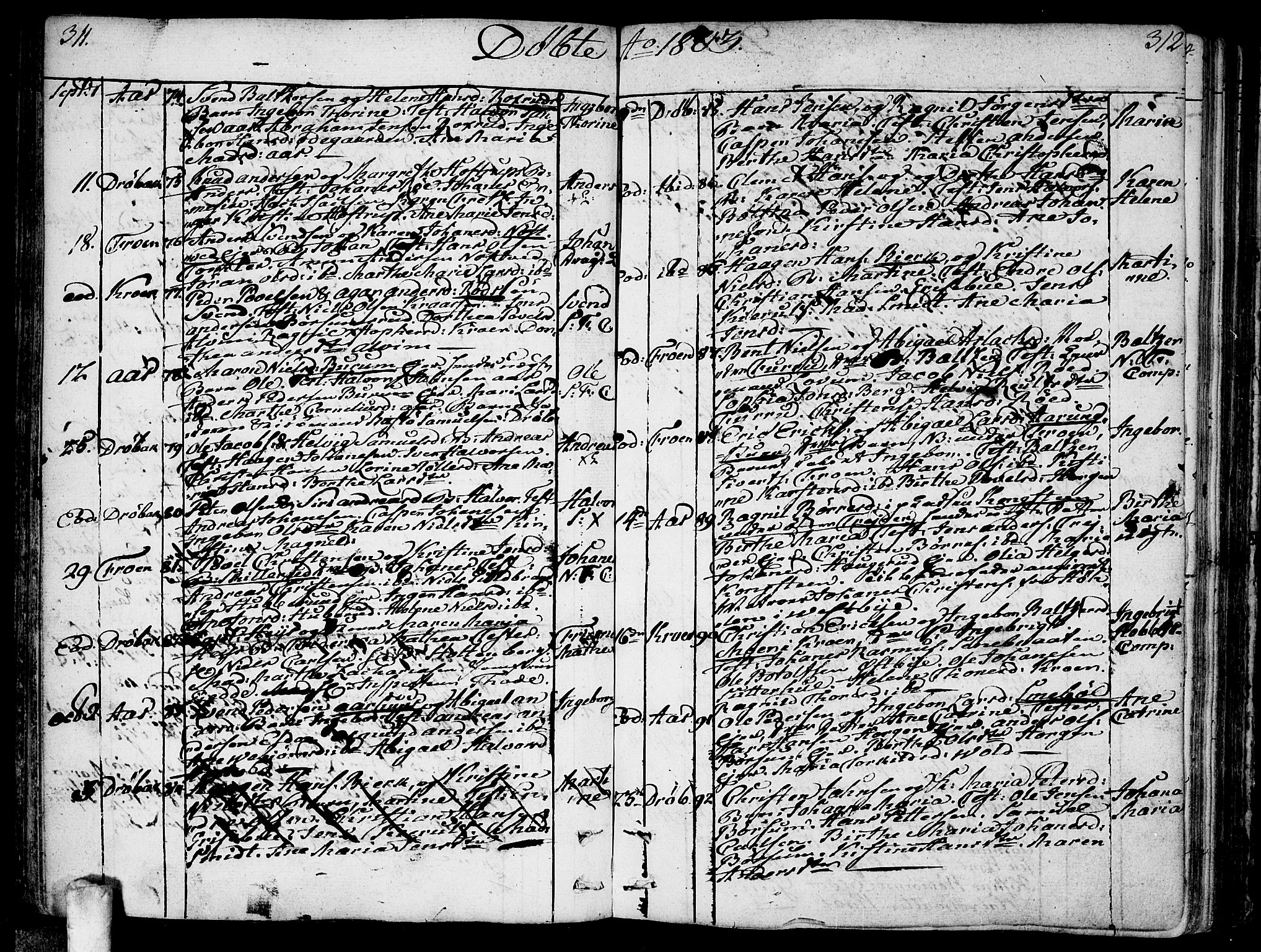 SAO, Ås prestekontor Kirkebøker, F/Fa/L0002: Ministerialbok nr. I 2, 1778-1813, s. 311-312