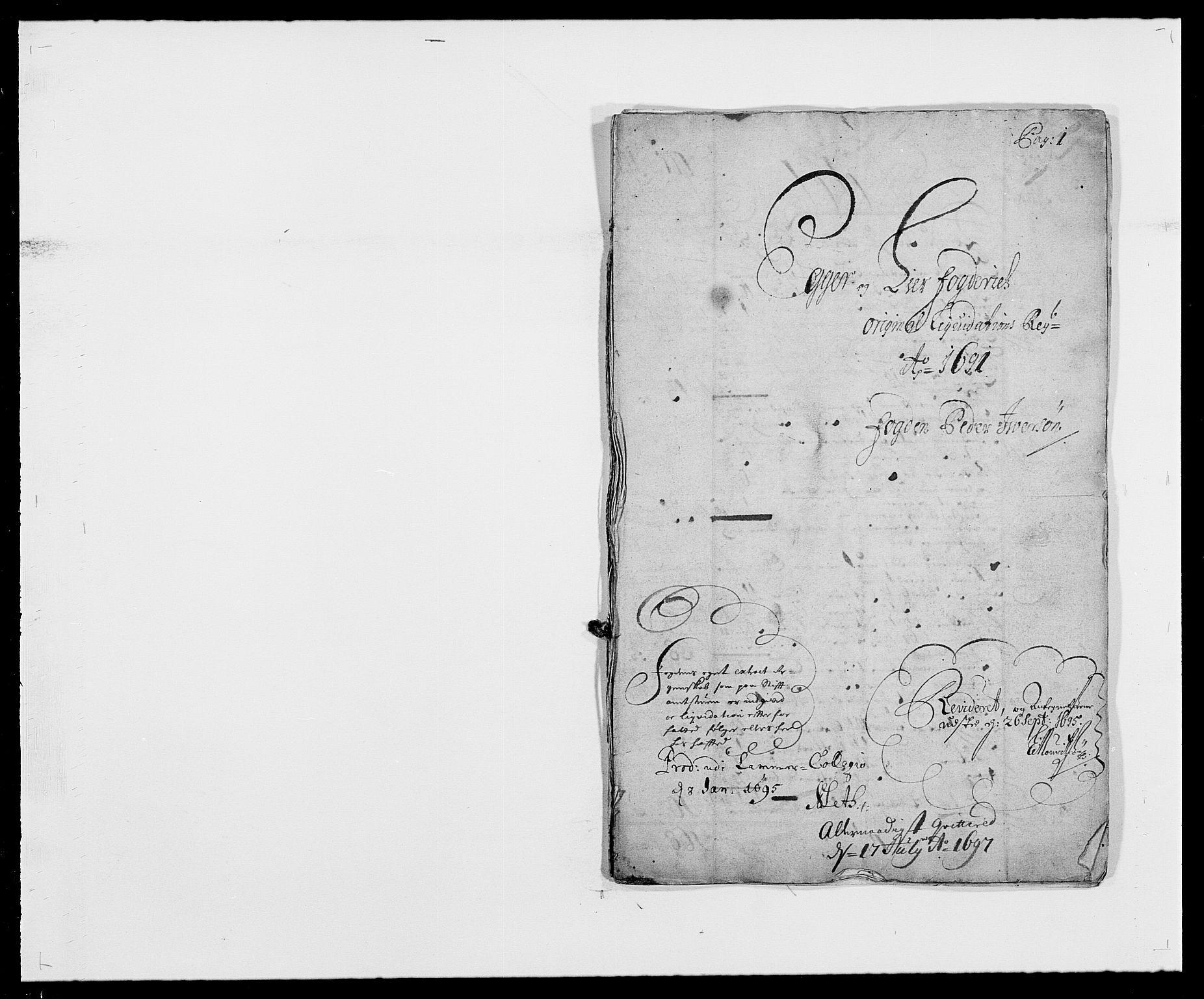 RA, Rentekammeret inntil 1814, Reviderte regnskaper, Fogderegnskap, R28/L1689: Fogderegnskap Eiker og Lier, 1690-1691, s. 205
