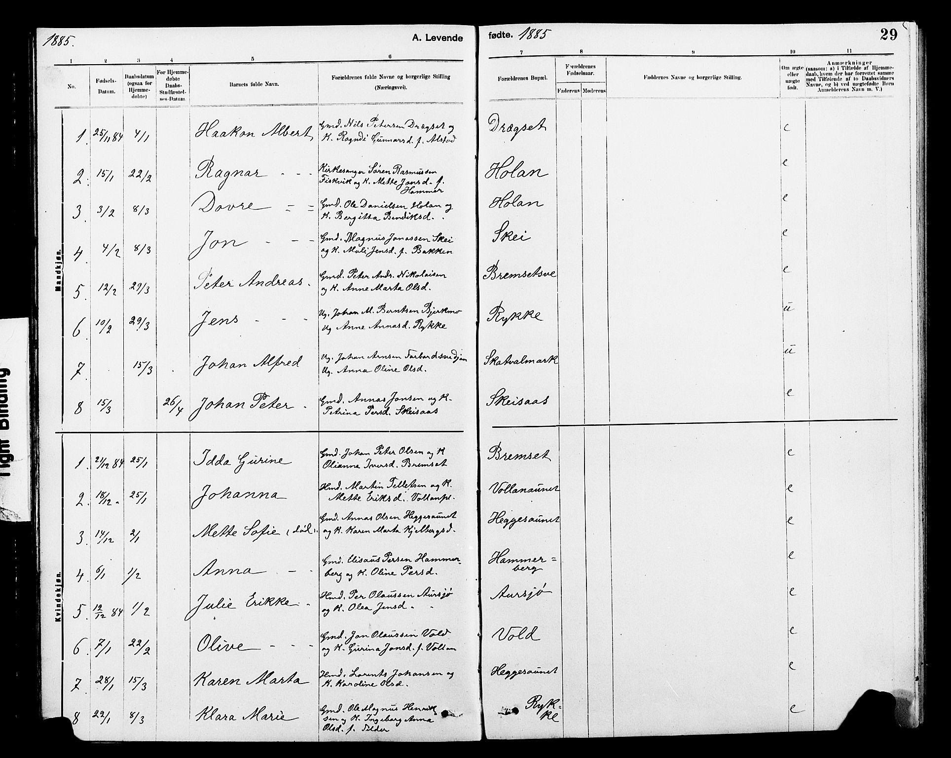 SAT, Ministerialprotokoller, klokkerbøker og fødselsregistre - Nord-Trøndelag, 712/L0103: Klokkerbok nr. 712C01, 1878-1917, s. 29