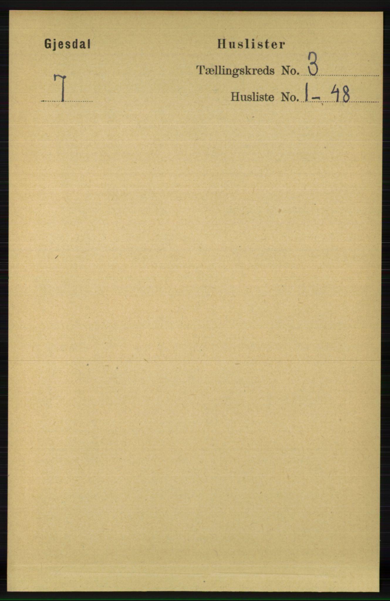 RA, Folketelling 1891 for 1122 Gjesdal herred, 1891, s. 683