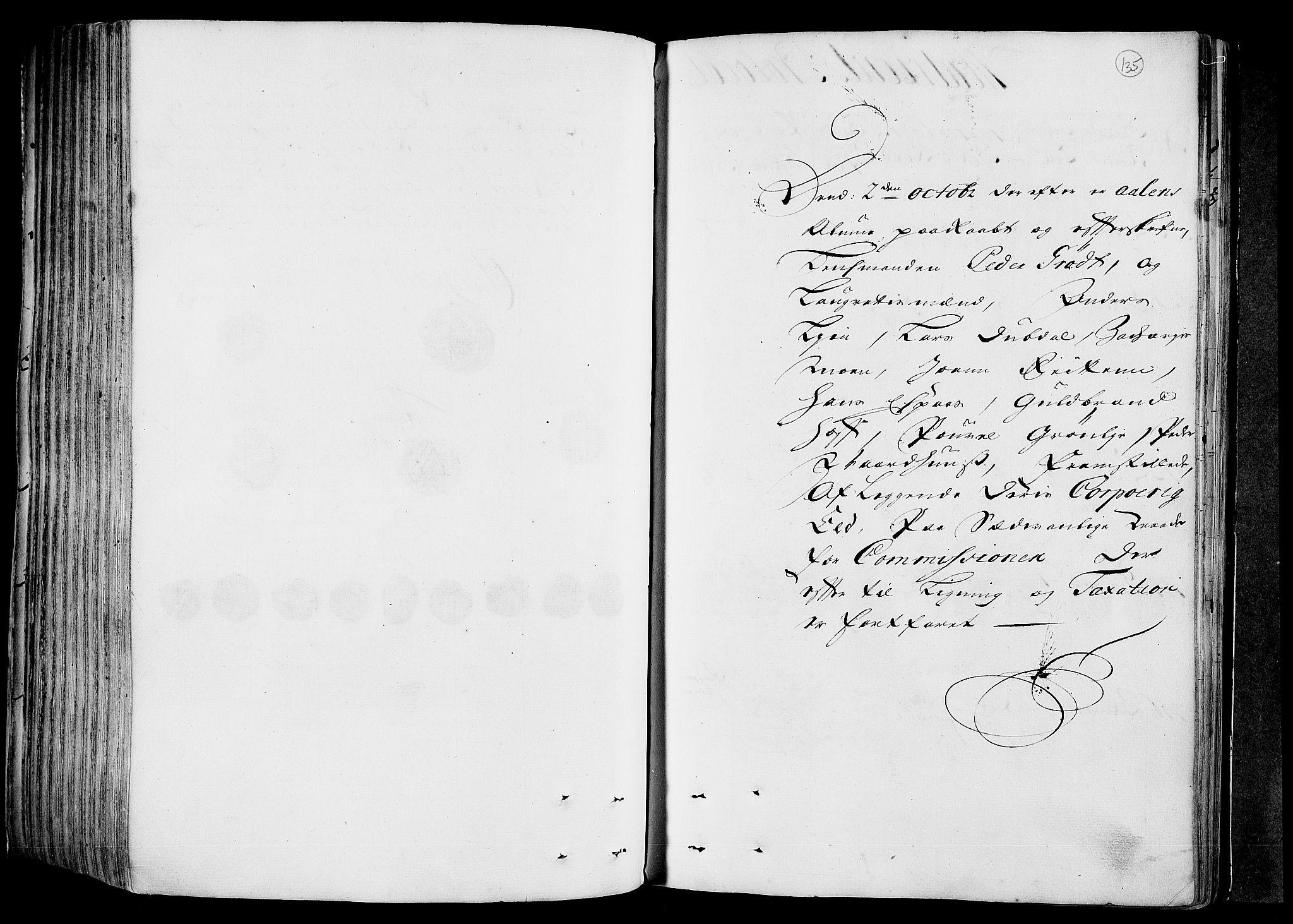 RA, Rentekammeret inntil 1814, Realistisk ordnet avdeling, N/Nb/Nbf/L0158: Gauldal eksaminasjonsprotokoll, 1723, s. 134b-135a