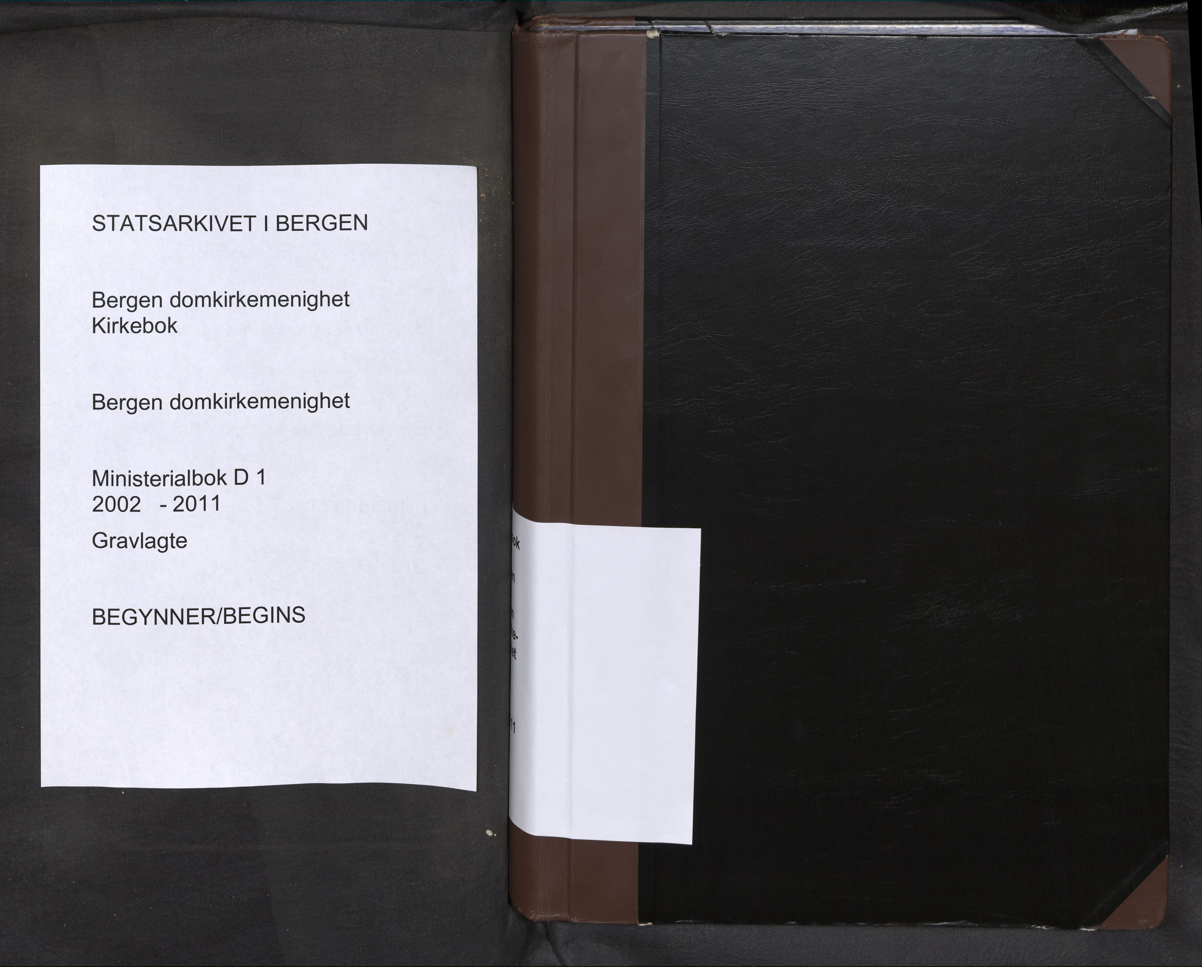 SAB, Domkirken Sokneprestembete, H/Haa: Ministerialbok nr. D 1, 2002-2011