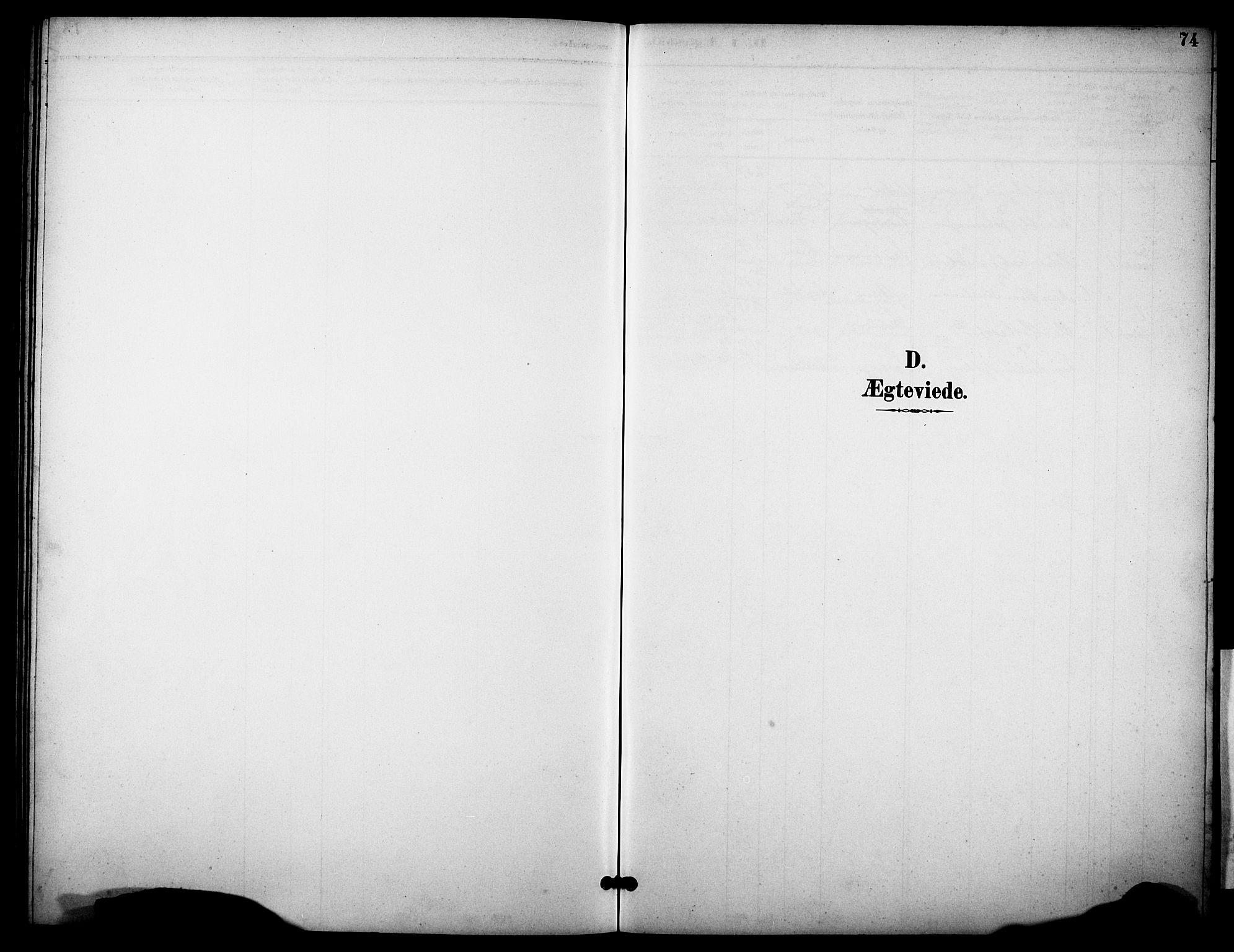 SAKO, Skåtøy kirkebøker, G/Gb/L0001: Klokkerbok nr. II 1, 1892-1916, s. 74