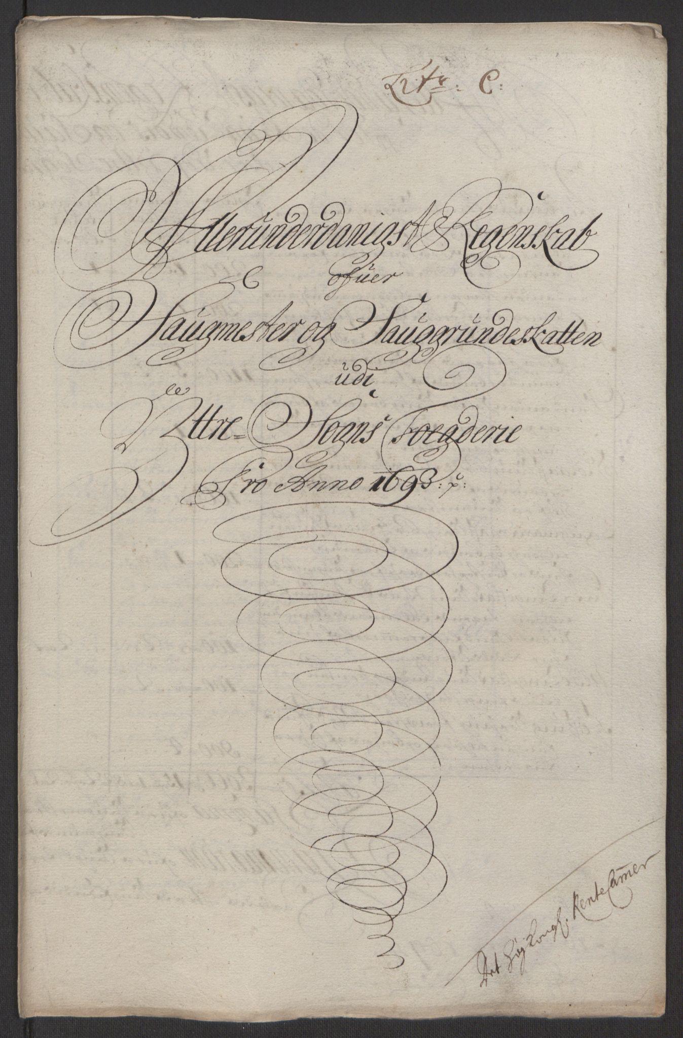 RA, Rentekammeret inntil 1814, Reviderte regnskaper, Fogderegnskap, R52/L3307: Fogderegnskap Sogn, 1693-1694, s. 214