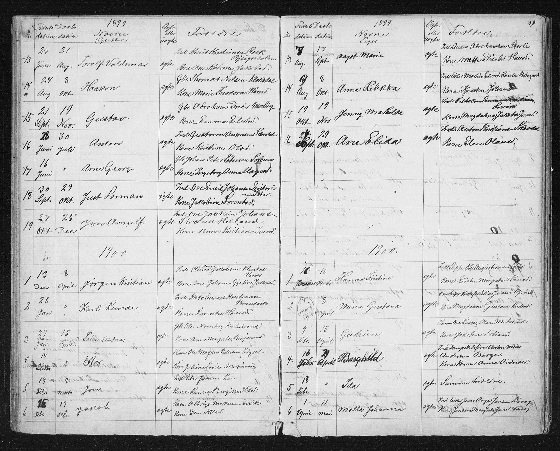 SAT, Ministerialprotokoller, klokkerbøker og fødselsregistre - Sør-Trøndelag, 651/L0647: Klokkerbok nr. 651C01, 1866-1914, s. 39