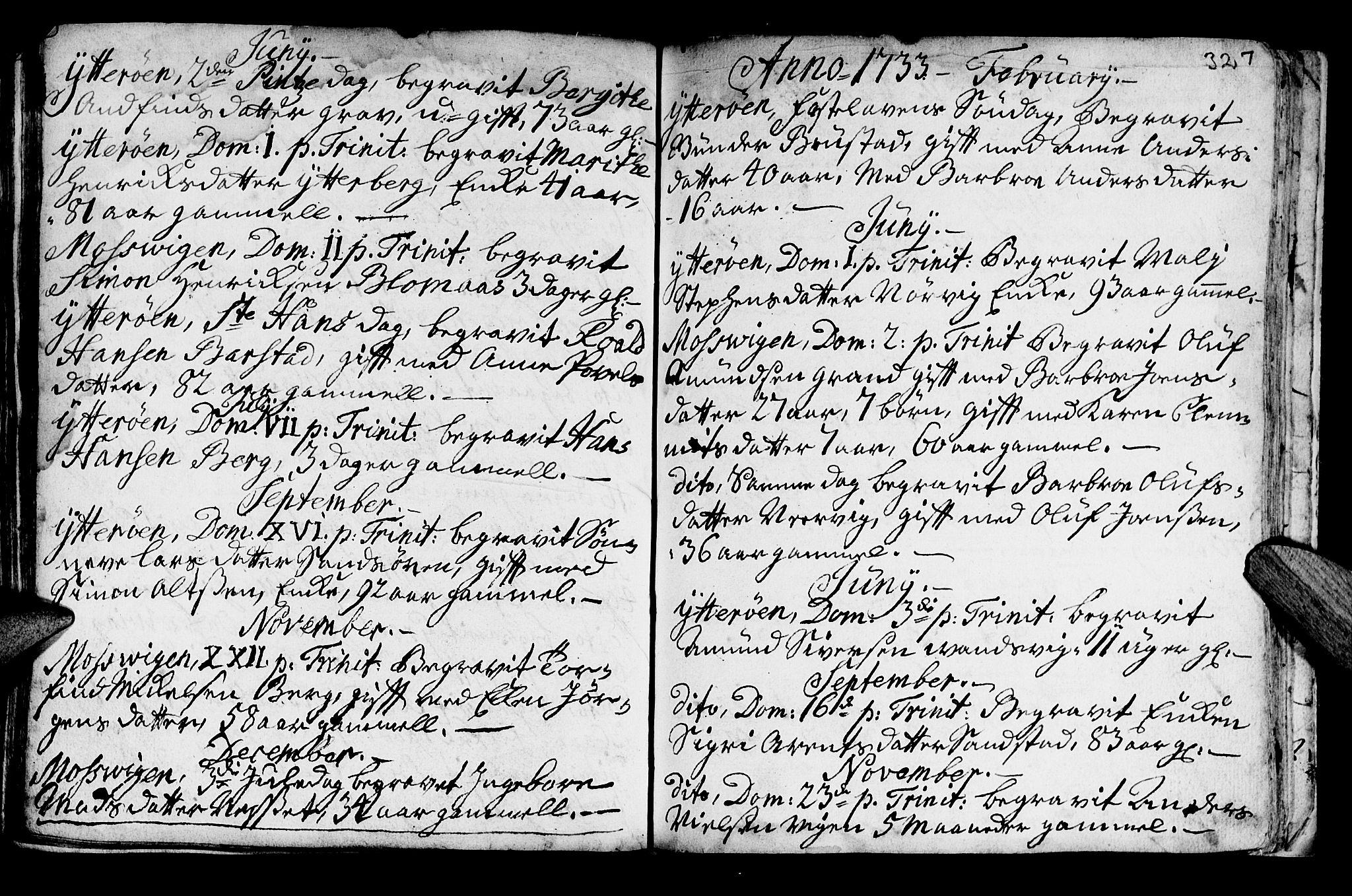 SAT, Ministerialprotokoller, klokkerbøker og fødselsregistre - Nord-Trøndelag, 722/L0215: Ministerialbok nr. 722A02, 1718-1755, s. 327