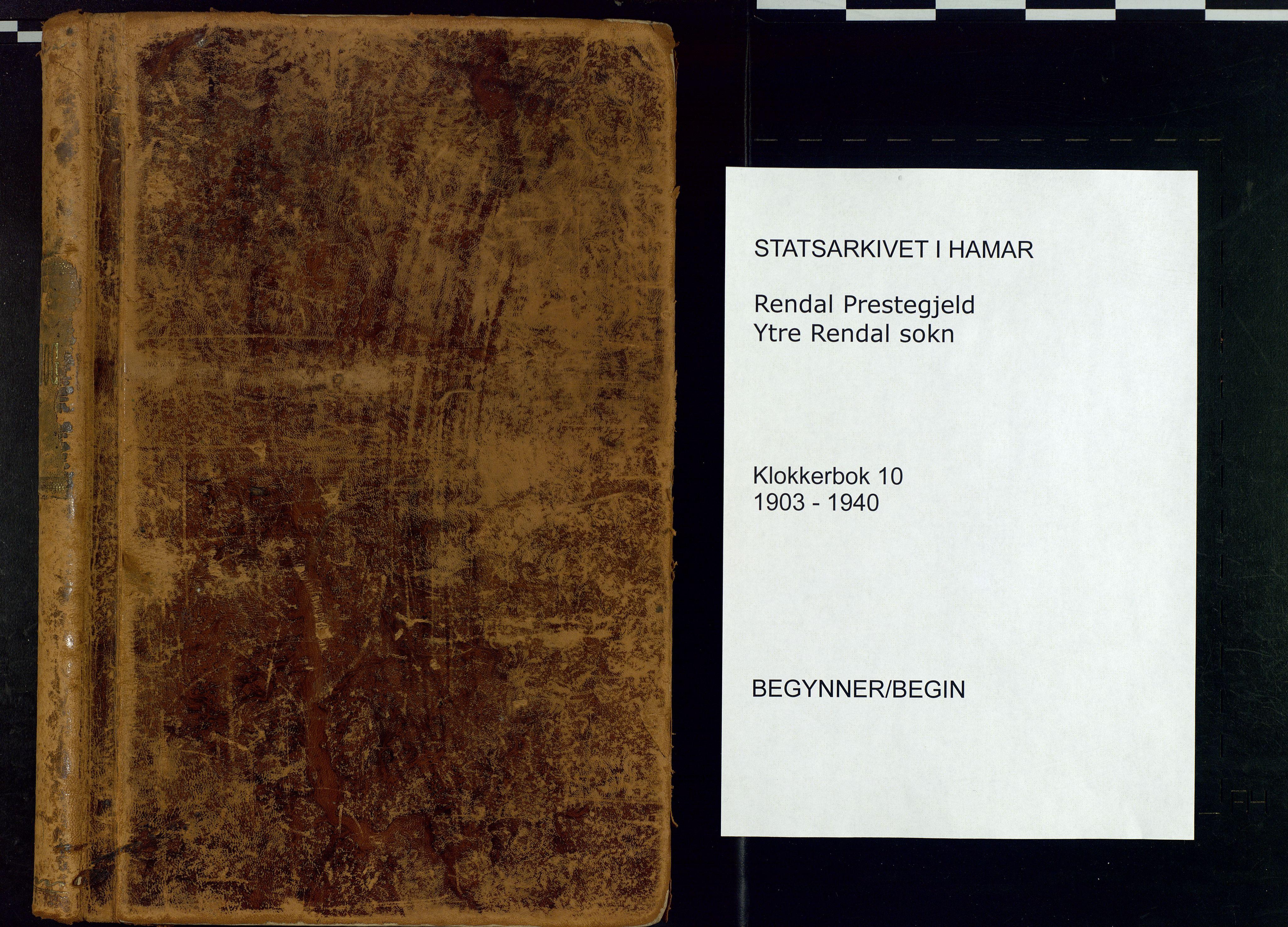 SAH, Rendalen prestekontor, H/Ha/Hab/L0010: Klokkerbok nr. 10, 1903-1940