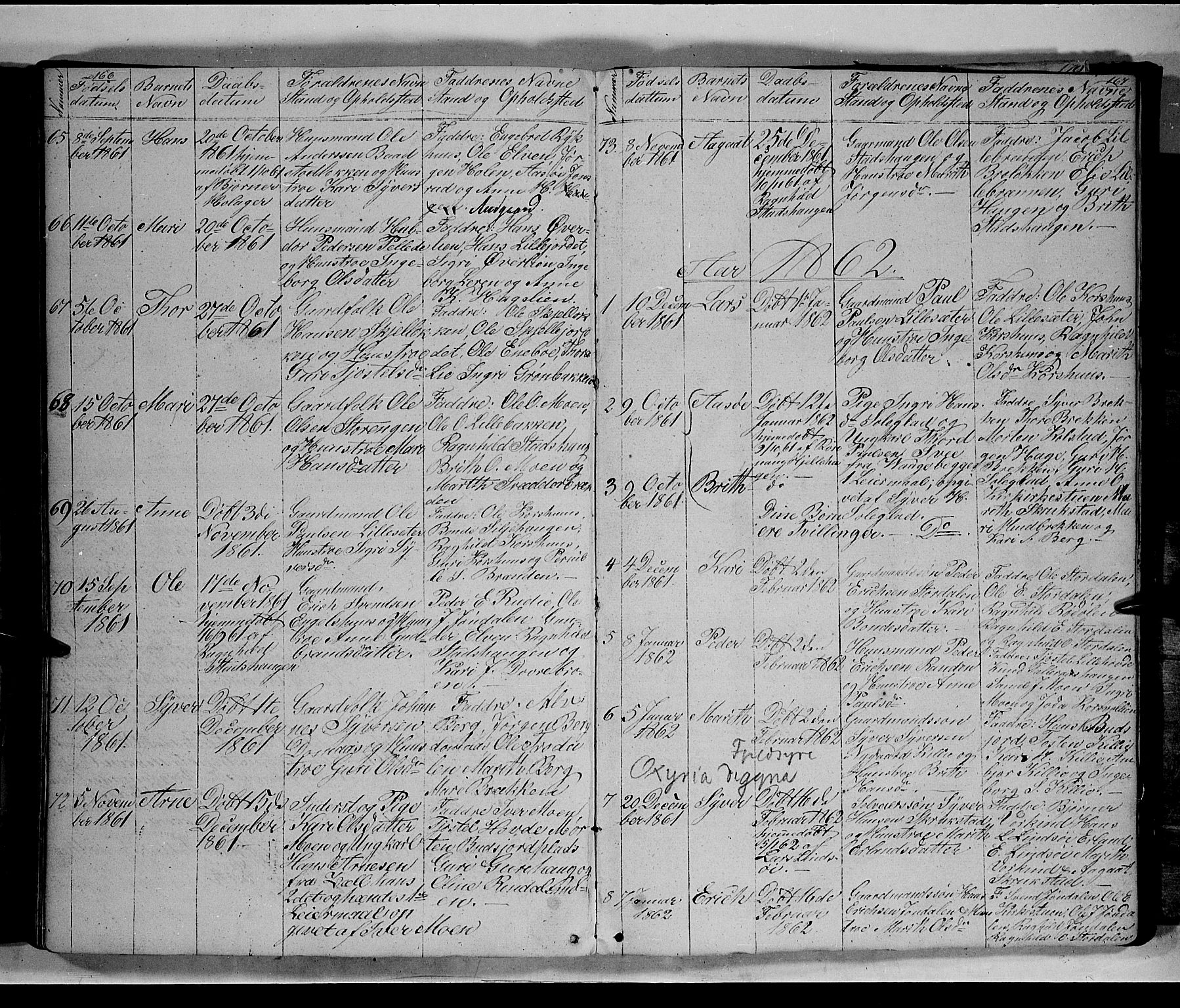 SAH, Lesja prestekontor, Klokkerbok nr. 3, 1842-1862, s. 266-267