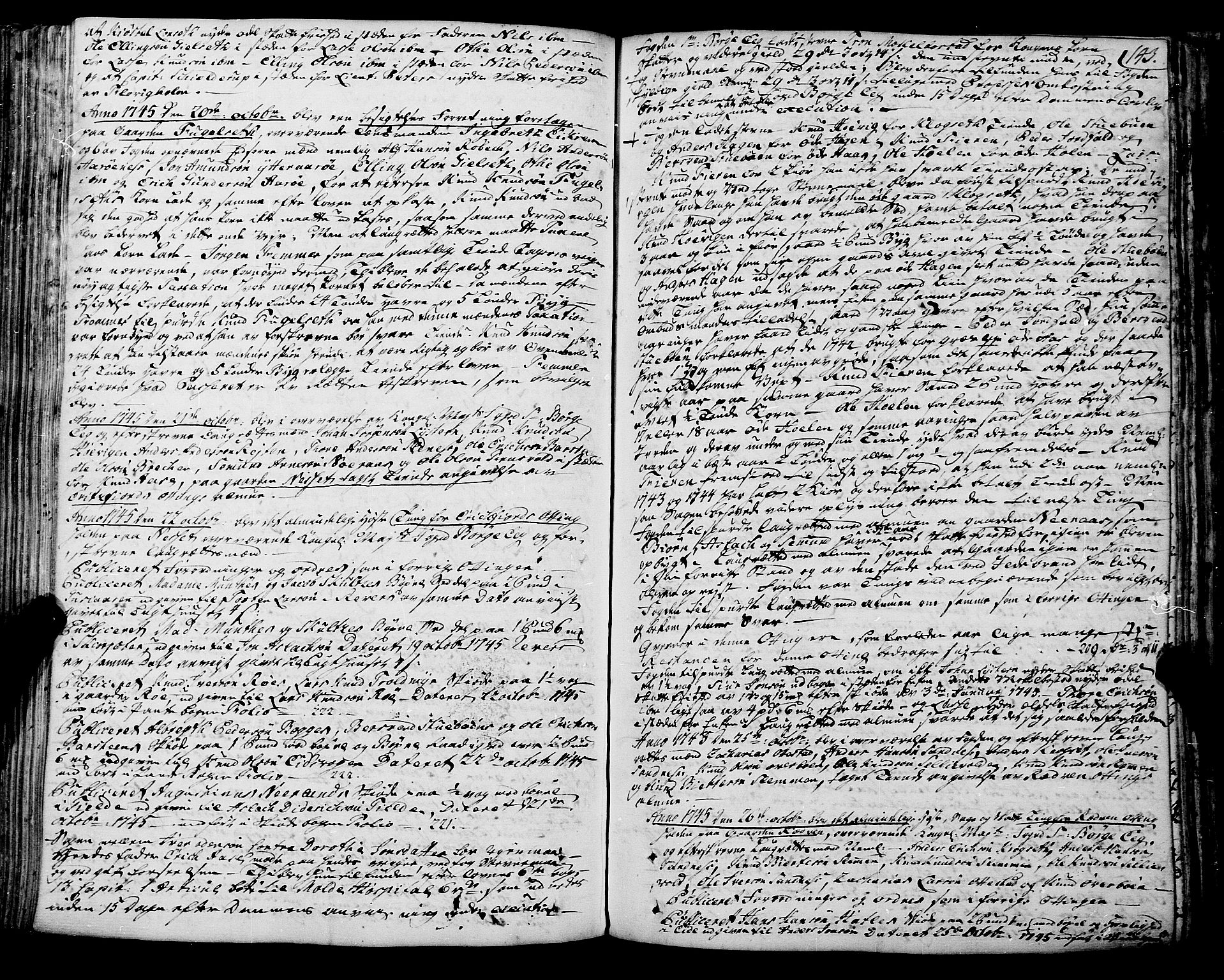 SAT, Romsdal sorenskriveri, 1/1A/L0012: Tingbok, 1740-1749, s. 142b-143a