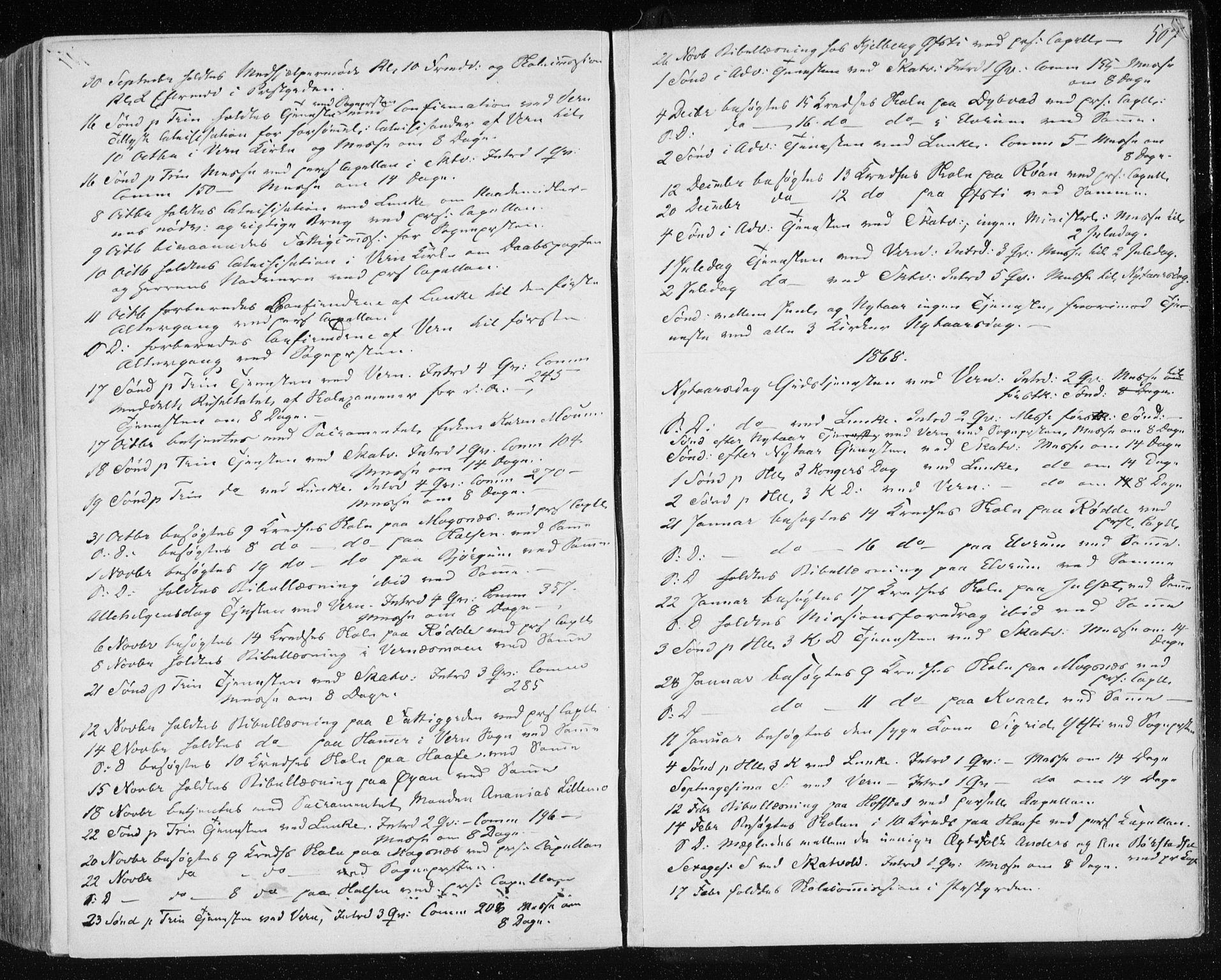 SAT, Ministerialprotokoller, klokkerbøker og fødselsregistre - Nord-Trøndelag, 709/L0075: Ministerialbok nr. 709A15, 1859-1870, s. 507