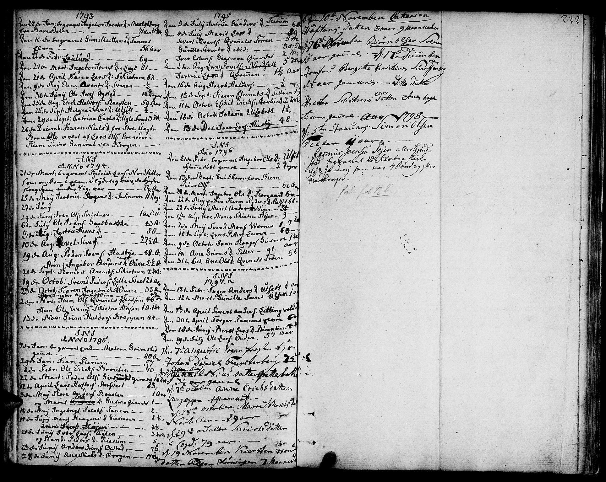 SAT, Ministerialprotokoller, klokkerbøker og fødselsregistre - Sør-Trøndelag, 618/L0438: Ministerialbok nr. 618A03, 1783-1815, s. 222