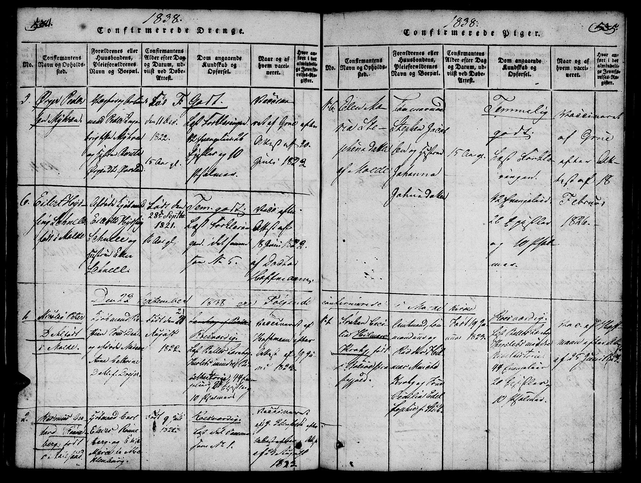 SAT, Ministerialprotokoller, klokkerbøker og fødselsregistre - Møre og Romsdal, 558/L0688: Ministerialbok nr. 558A02, 1818-1843, s. 534-535