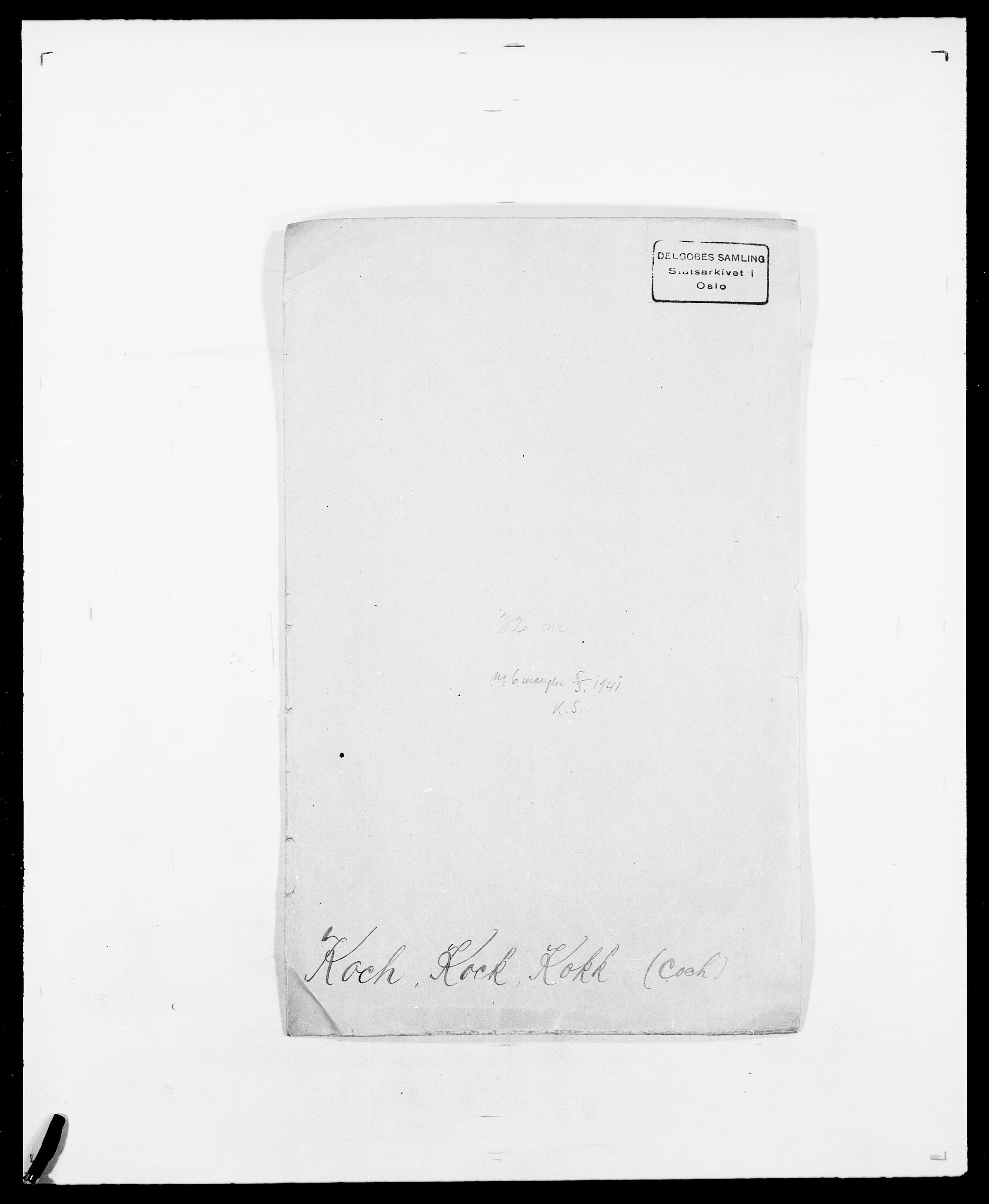 SAO, Delgobe, Charles Antoine - samling, D/Da/L0021: Klagenberg - Kristoft, s. 417