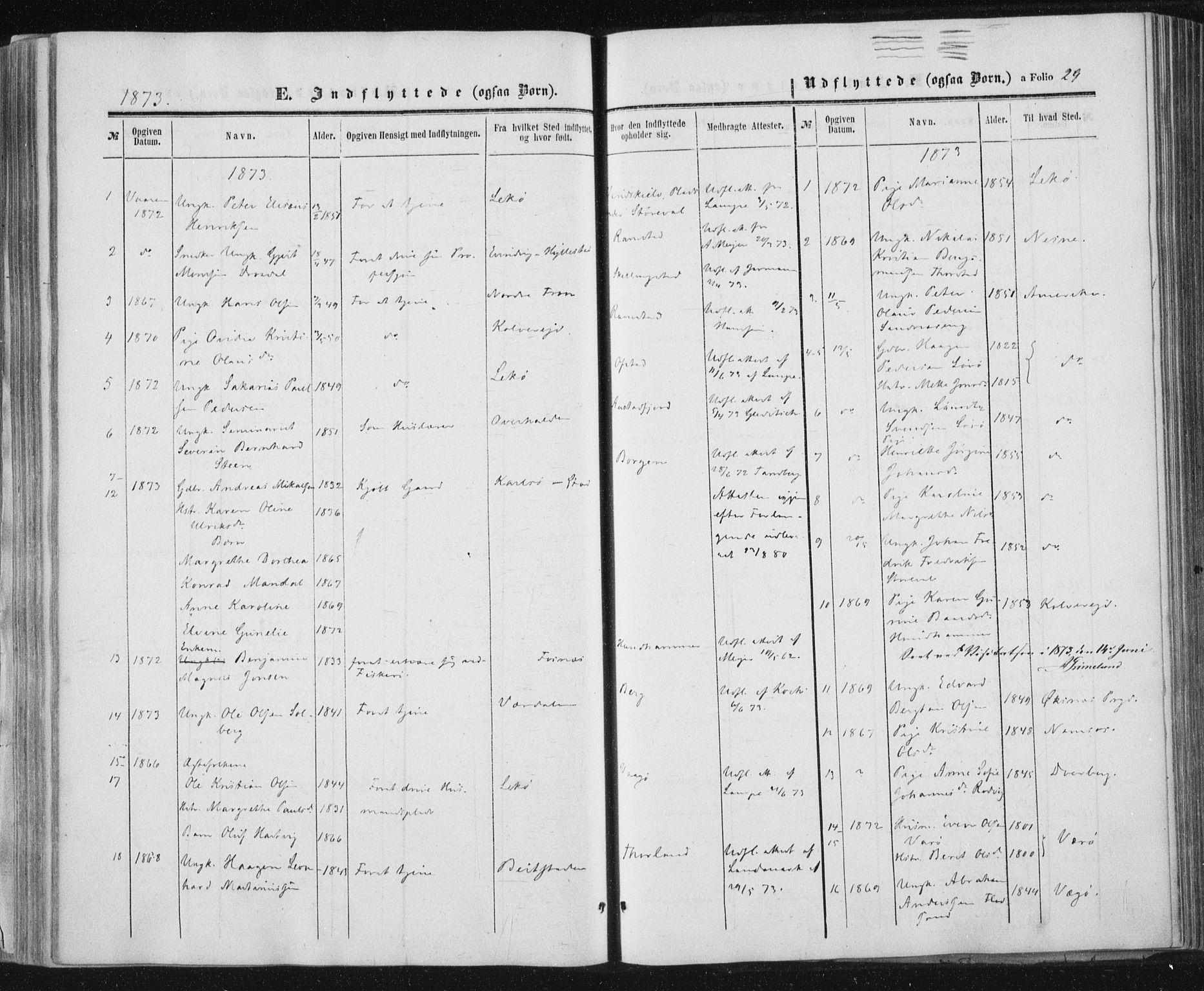 SAT, Ministerialprotokoller, klokkerbøker og fødselsregistre - Nord-Trøndelag, 784/L0670: Ministerialbok nr. 784A05, 1860-1876, s. 29