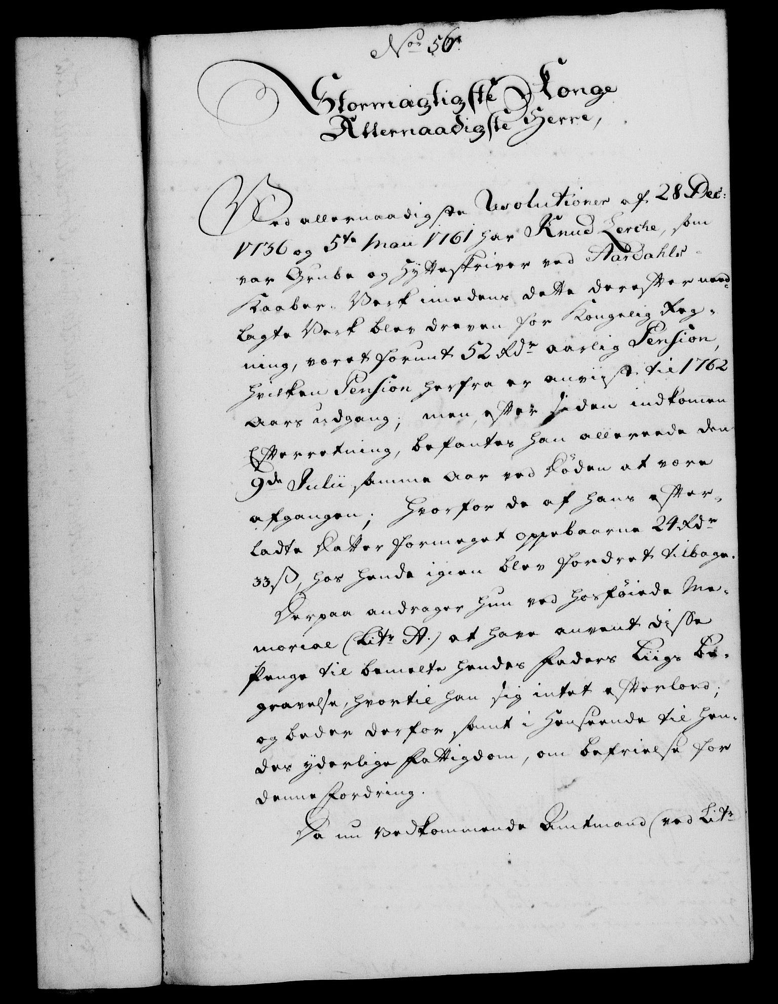 RA, Rentekammeret, Kammerkanselliet, G/Gf/Gfa/L0048: Norsk relasjons- og resolusjonsprotokoll (merket RK 52.48), 1766, s. 267