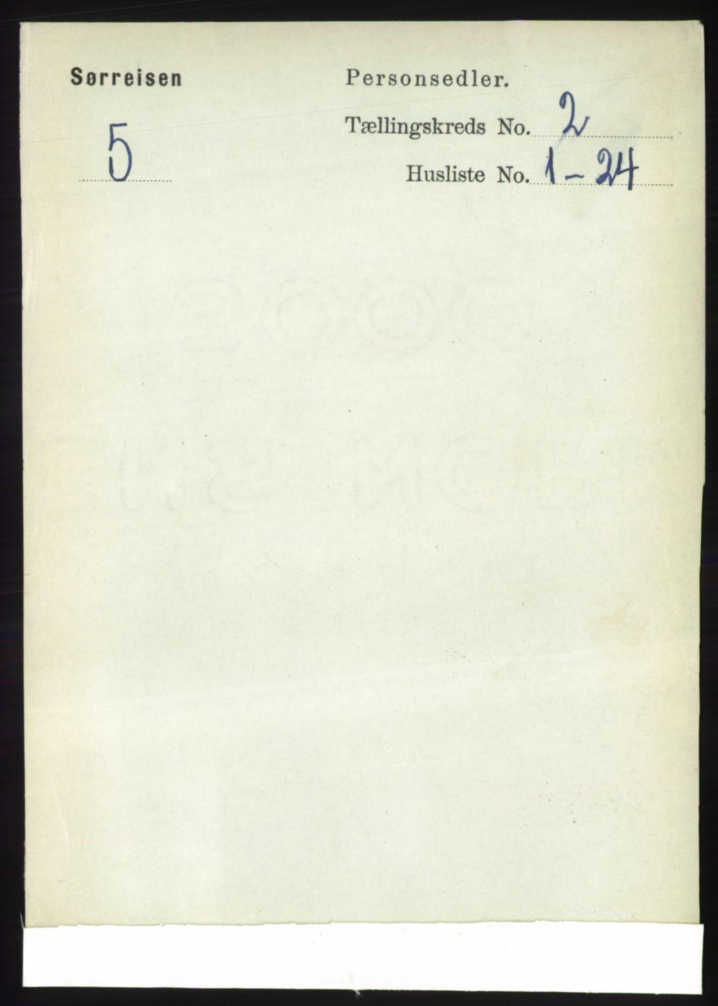 RA, Folketelling 1891 for 1925 Sørreisa herred, 1891, s. 376