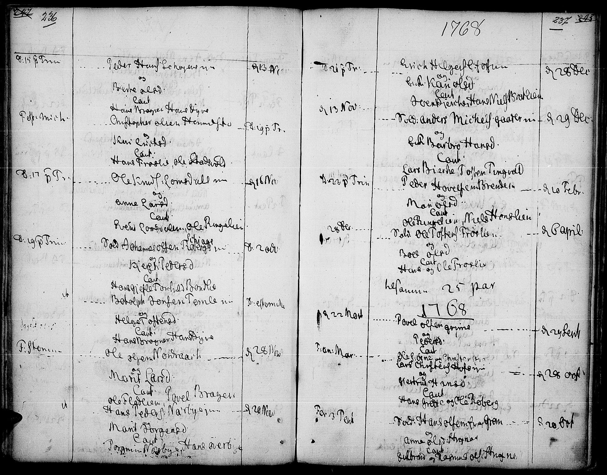 SAH, Land prestekontor, Ministerialbok nr. 5, 1765-1784, s. 236-237