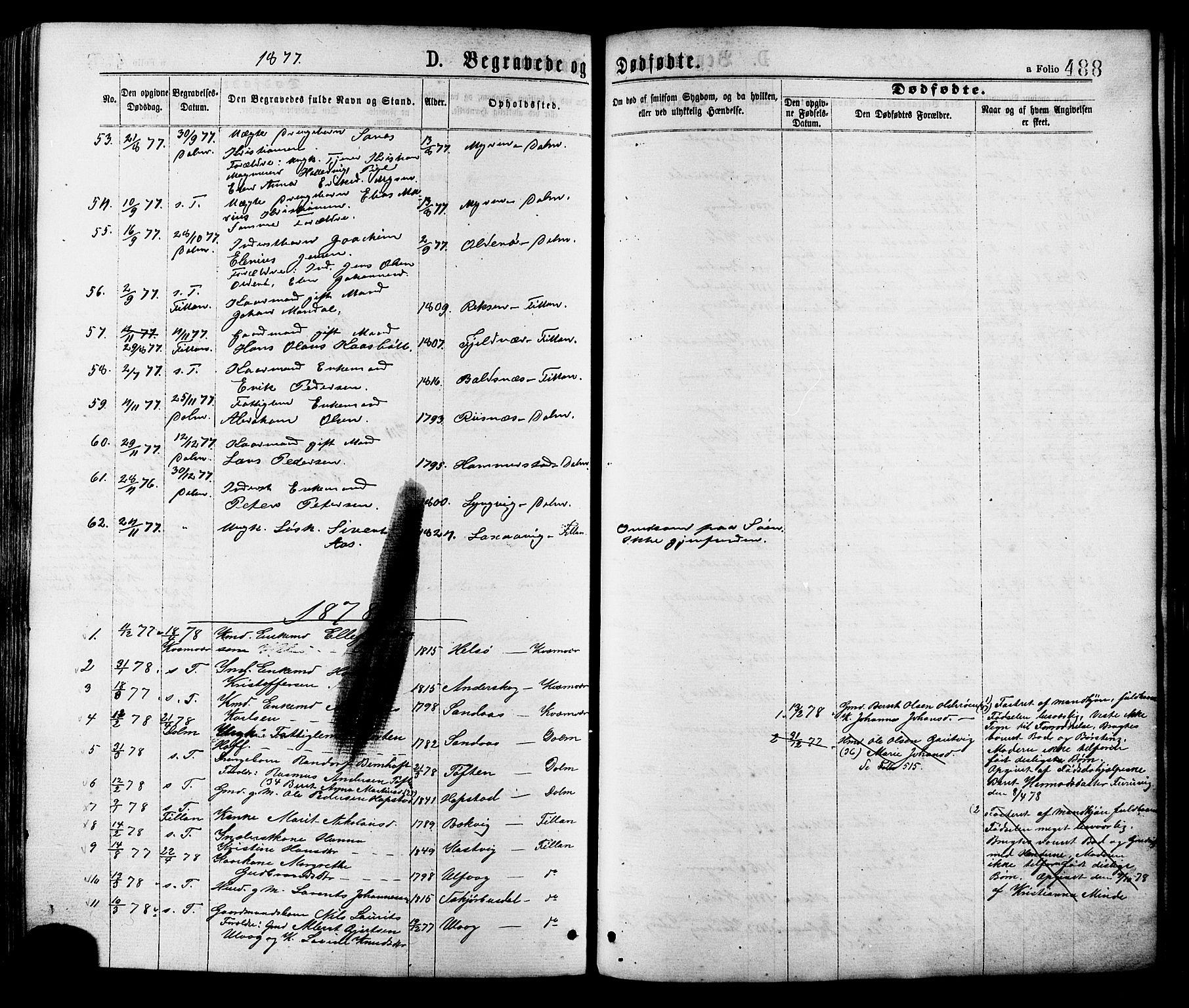 SAT, Ministerialprotokoller, klokkerbøker og fødselsregistre - Sør-Trøndelag, 634/L0532: Ministerialbok nr. 634A08, 1871-1881, s. 488