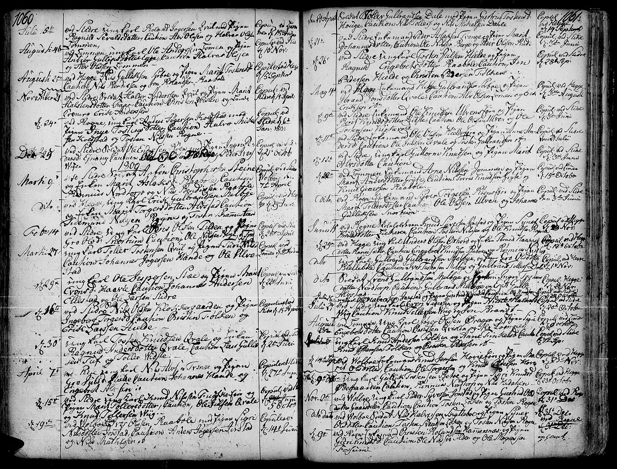 SAH, Slidre prestekontor, Ministerialbok nr. 1, 1724-1814, s. 1060-1061