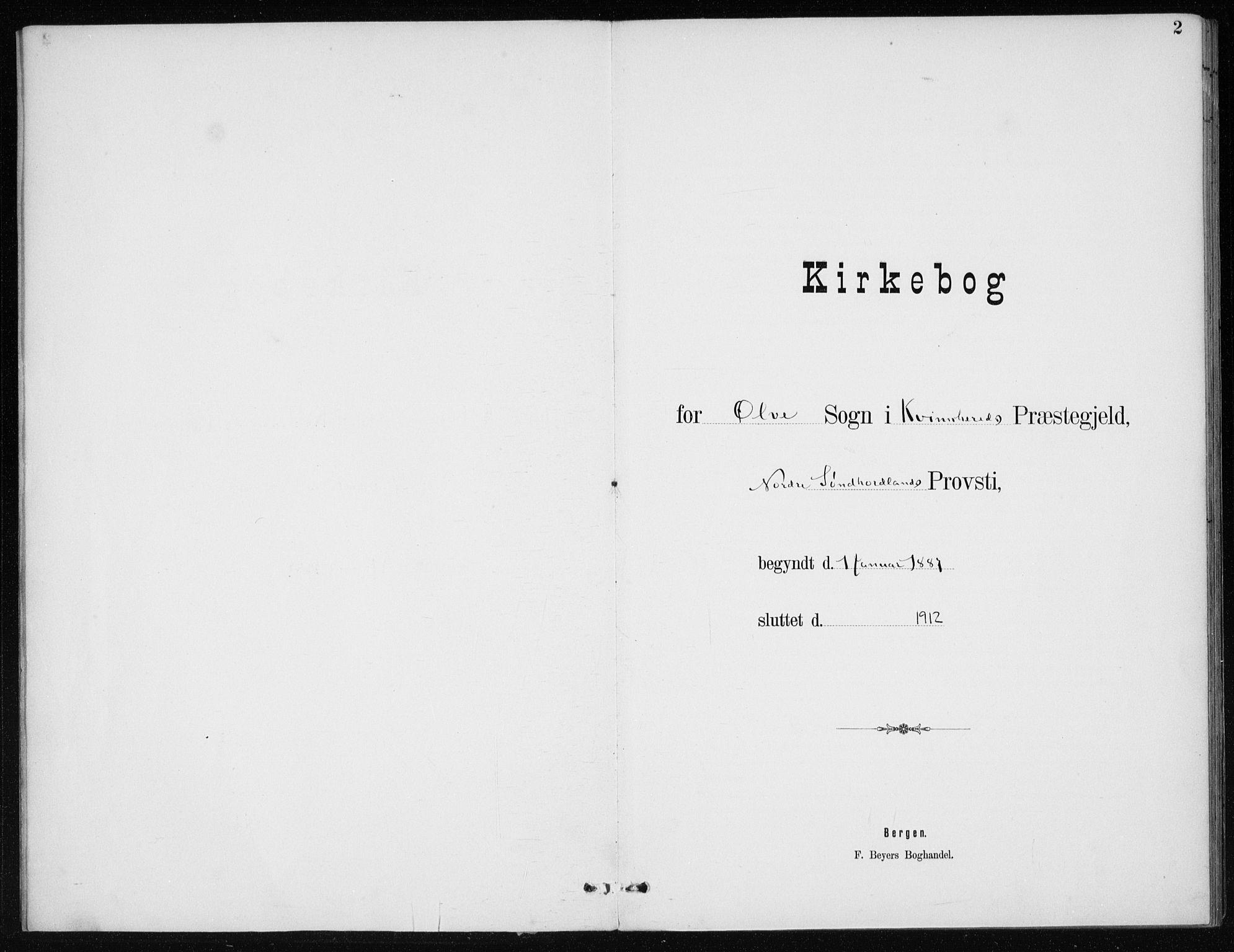 SAB, Kvinnherad Sokneprestembete, H/Haa: Ministerialbok nr. E 1, 1887-1912, s. 2