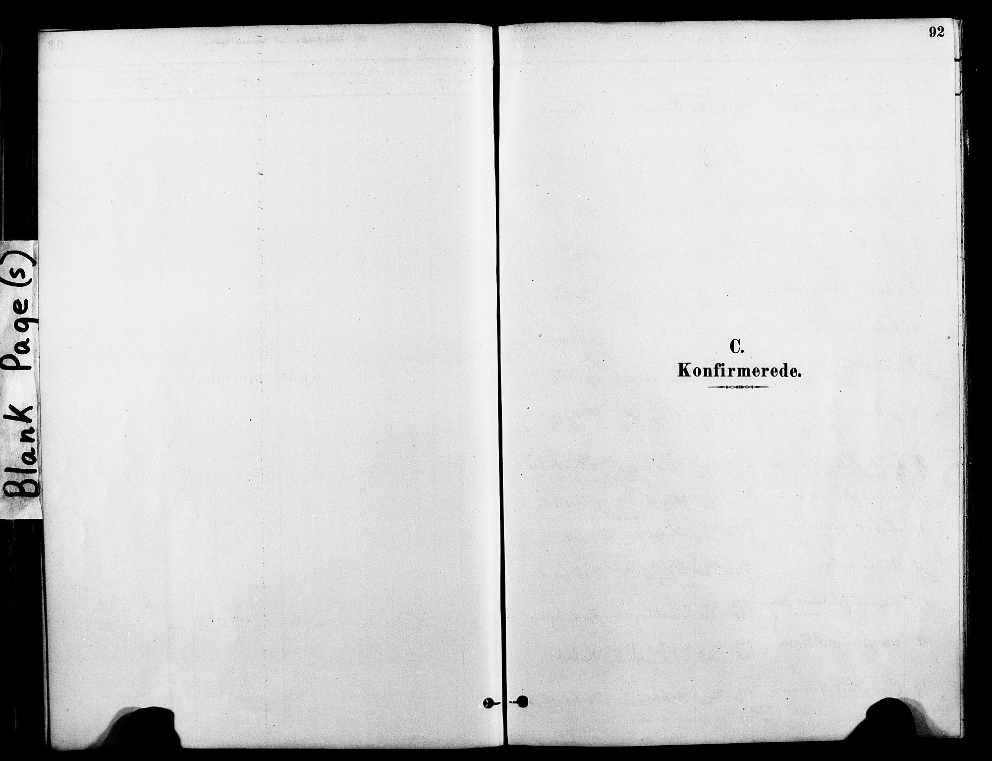 SAT, Ministerialprotokoller, klokkerbøker og fødselsregistre - Nord-Trøndelag, 712/L0100: Ministerialbok nr. 712A01, 1880-1900, s. 92