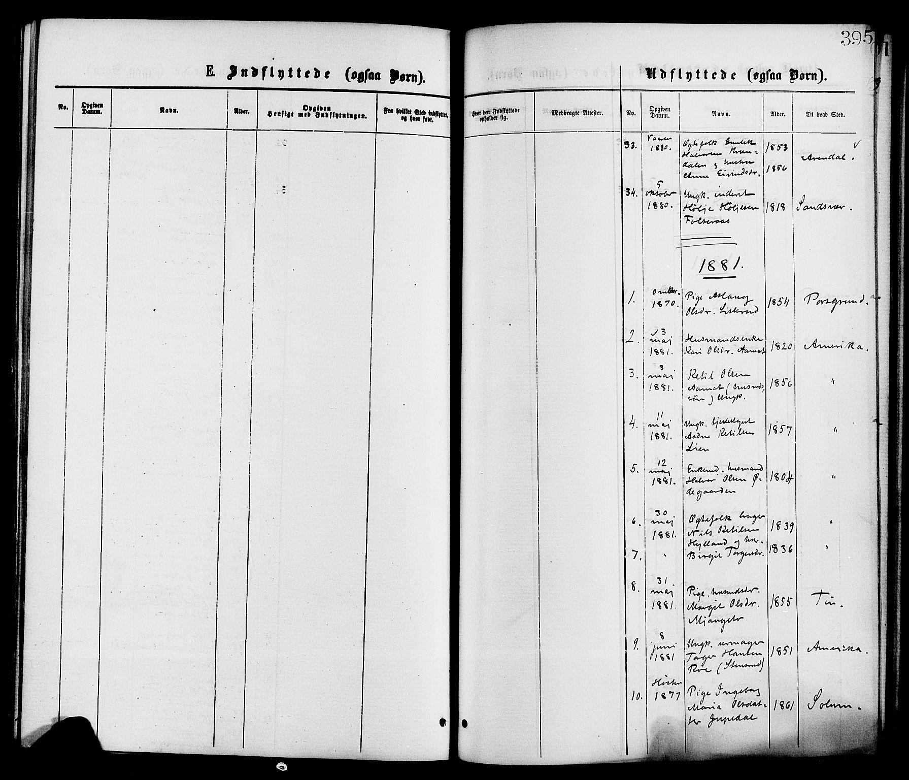 SAKO, Gransherad kirkebøker, F/Fa/L0004: Ministerialbok nr. I 4, 1871-1886, s. 395