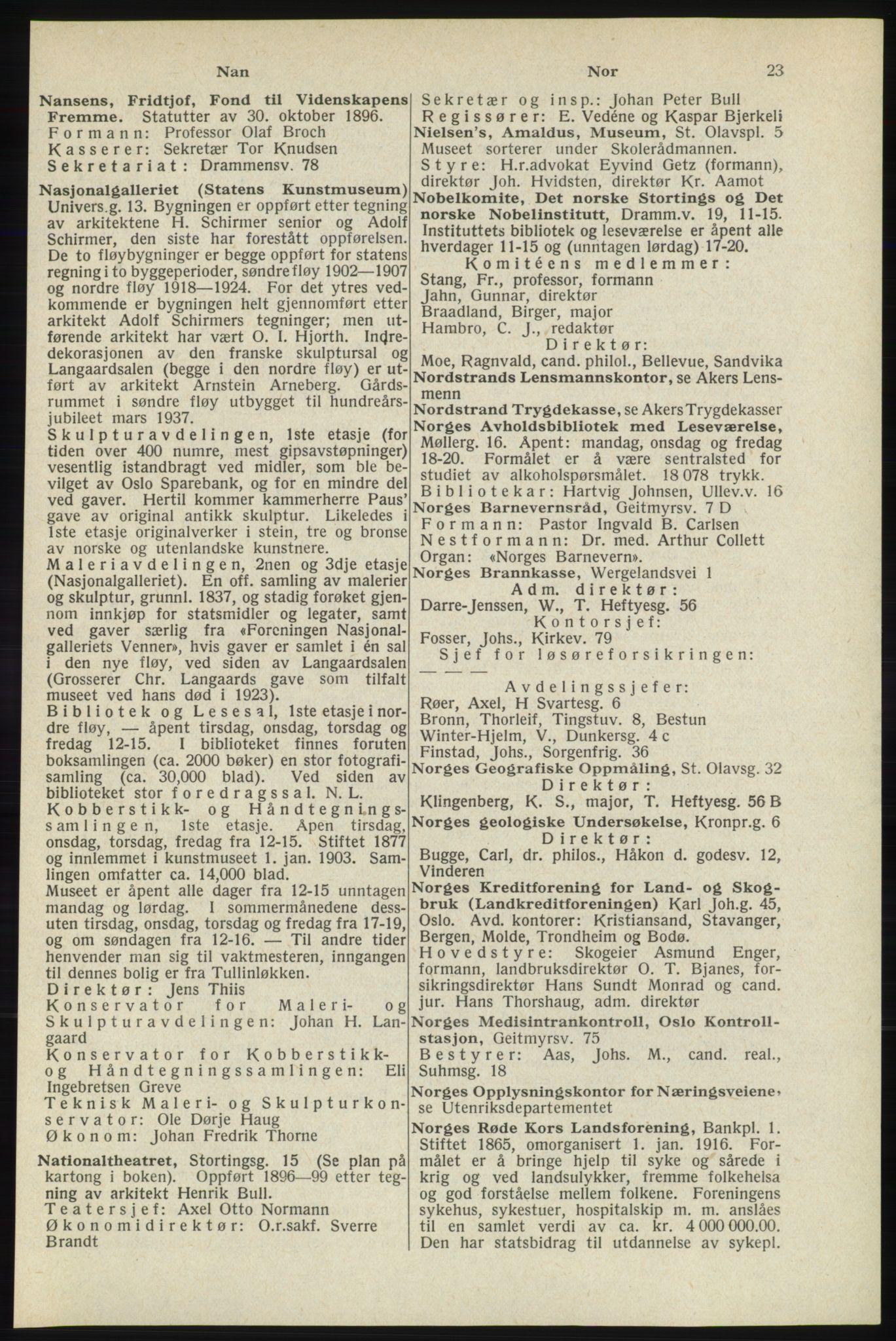 RA, Oslo adressebok (publikasjon)*, 1940, s. 23