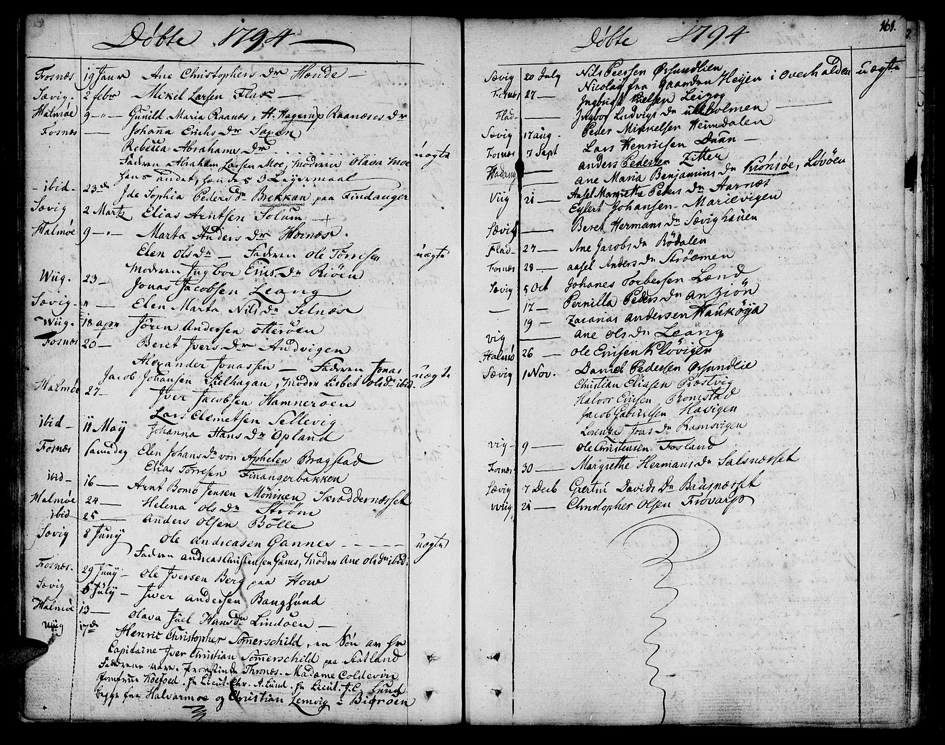 SAT, Ministerialprotokoller, klokkerbøker og fødselsregistre - Nord-Trøndelag, 773/L0608: Ministerialbok nr. 773A02, 1784-1816, s. 161