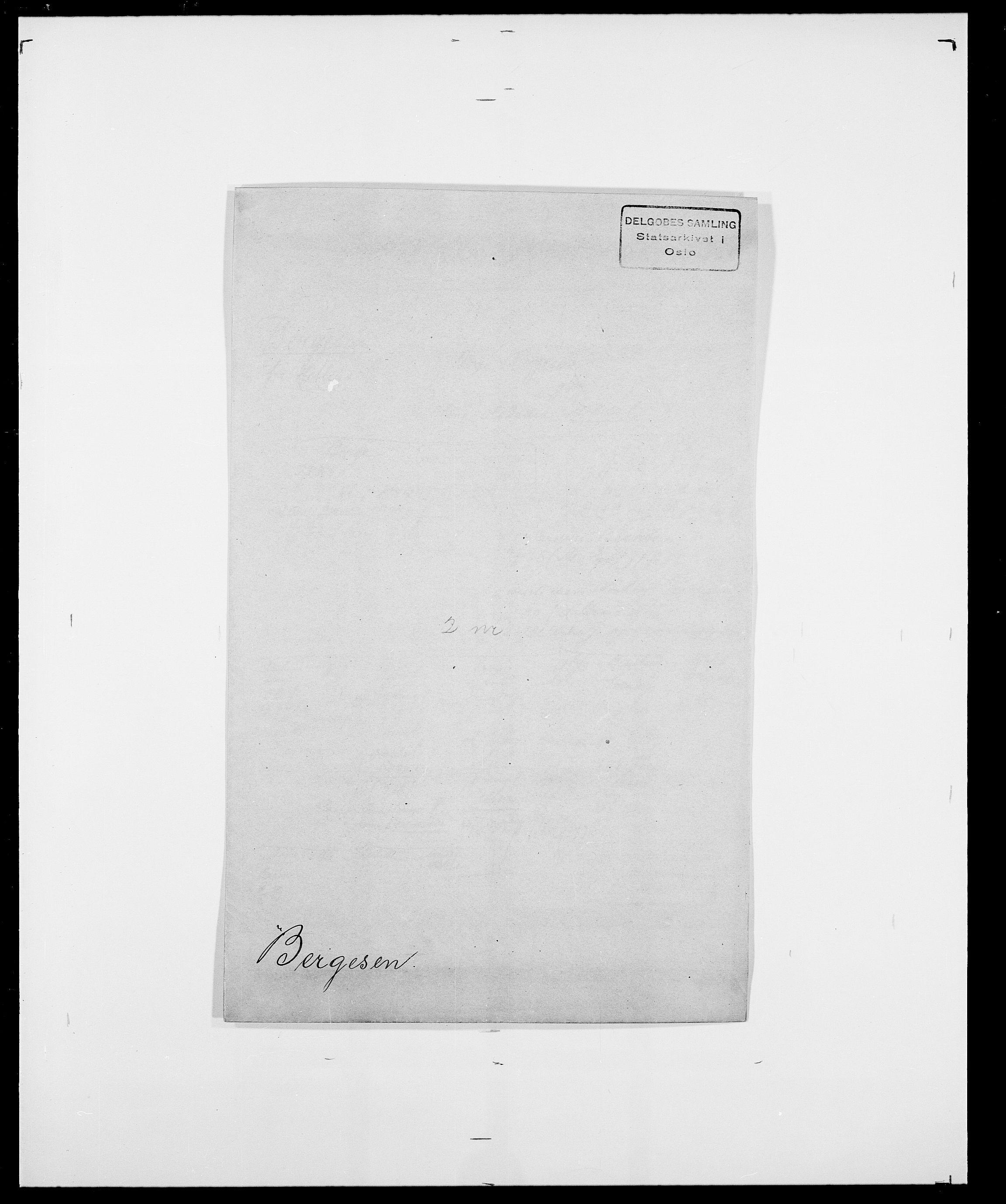 SAO, Delgobe, Charles Antoine - samling, D/Da/L0004: Bergendahl - Blære, s. 18