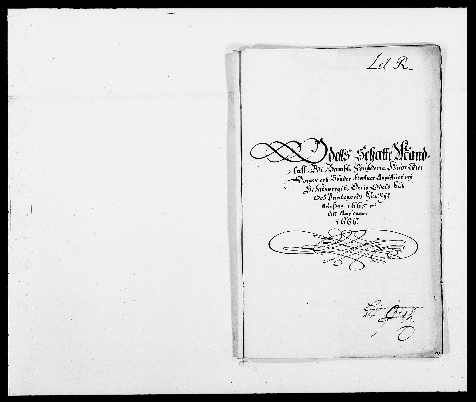 RA, Rentekammeret inntil 1814, Reviderte regnskaper, Fogderegnskap, R34/L2038: Fogderegnskap Bamble, 1662-1669, s. 246