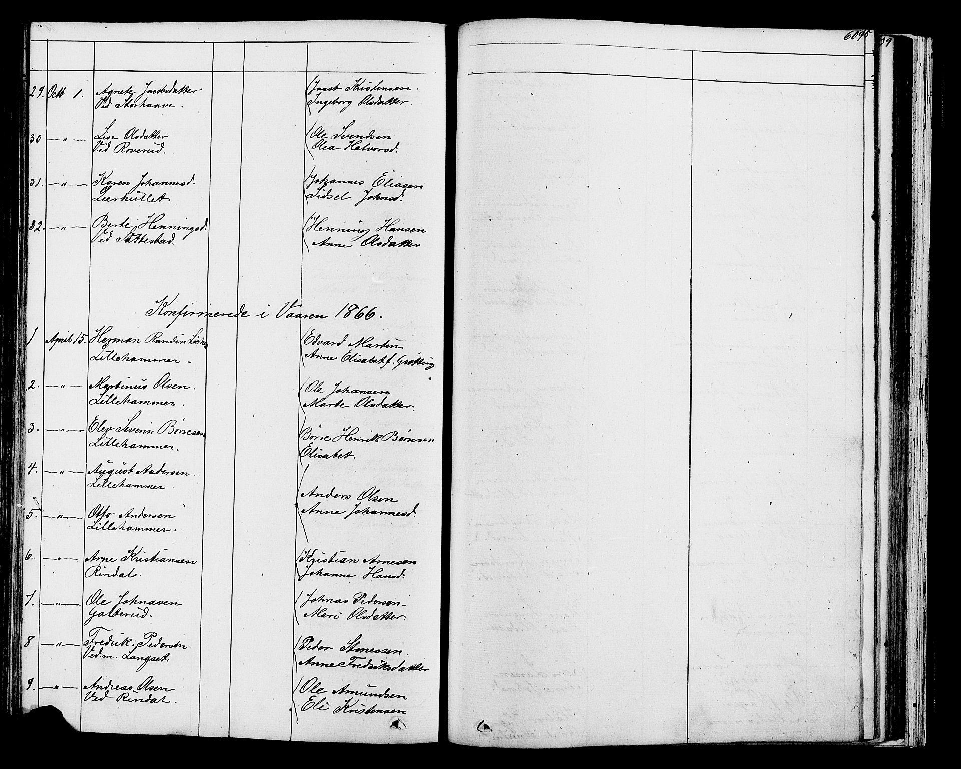 SAH, Fåberg prestekontor, Klokkerbok nr. 7, 1856-1891, s. 608-609