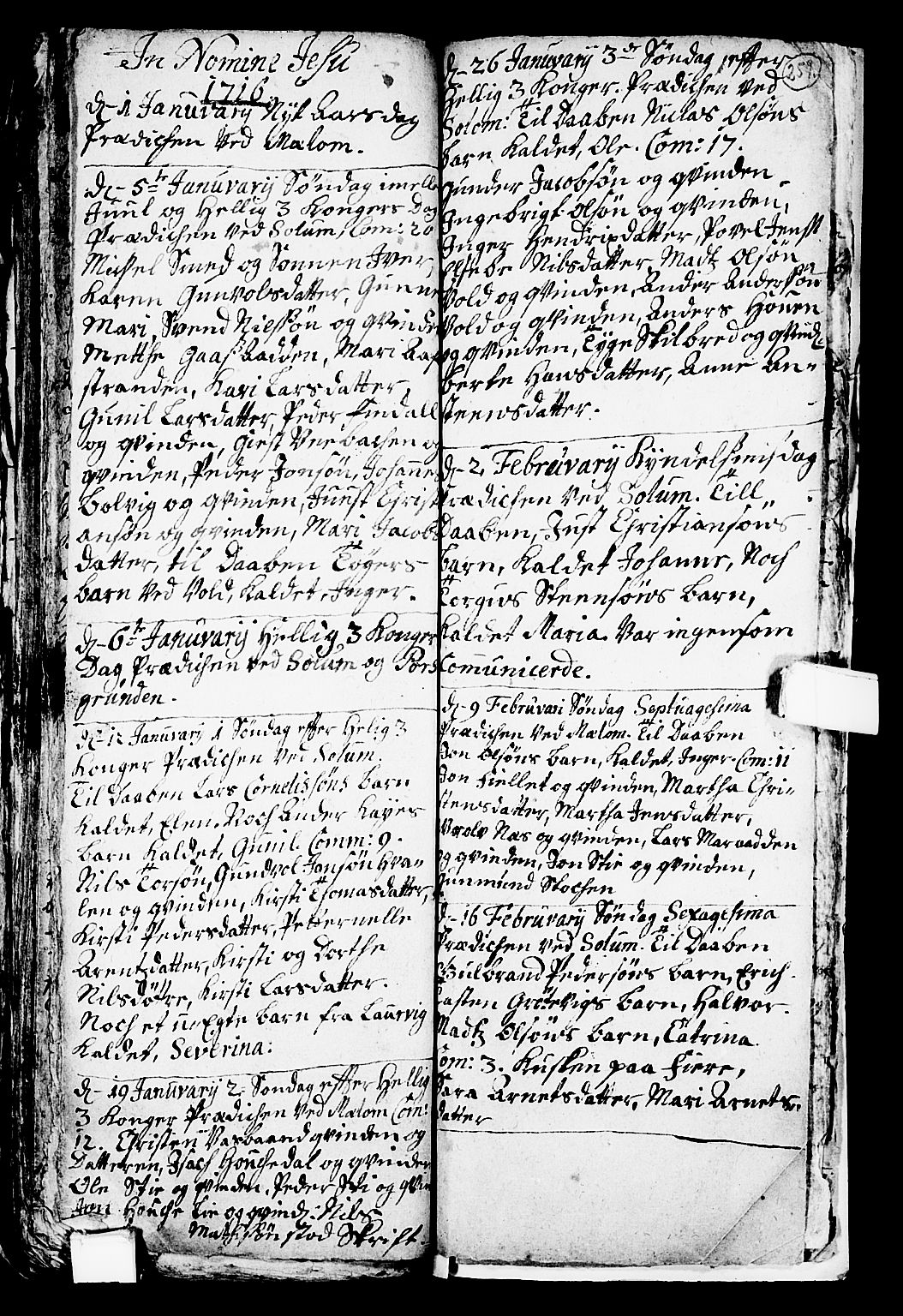 SAKO, Solum kirkebøker, F/Fa/L0001: Ministerialbok nr. I 1, 1701-1716, s. 259