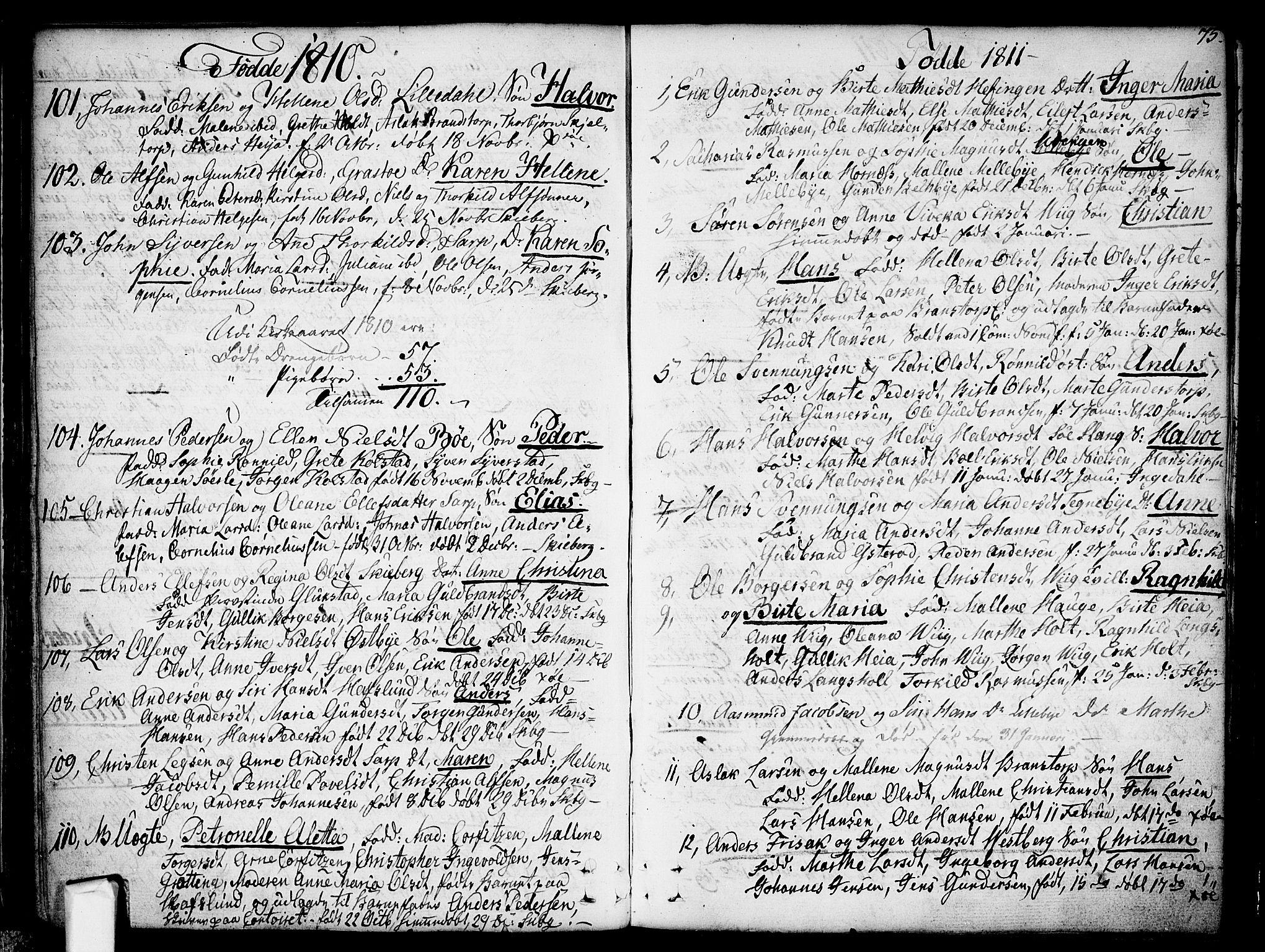 SAO, Skjeberg prestekontor Kirkebøker, F/Fa/L0003: Ministerialbok nr. I 3, 1792-1814, s. 75
