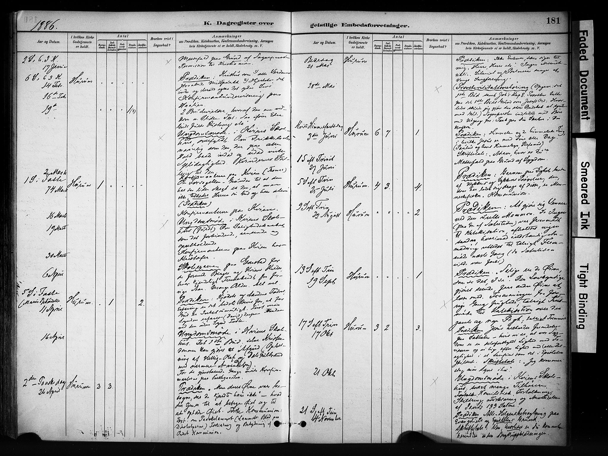 SAH, Vang prestekontor, Valdres, Ministerialbok nr. 9, 1882-1914, s. 181
