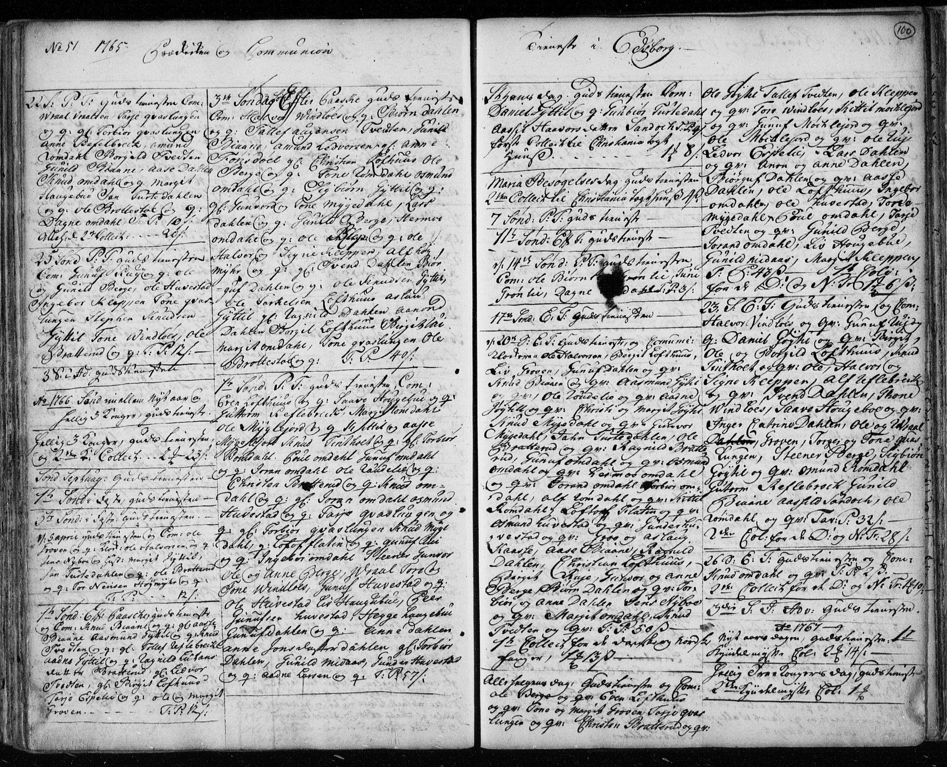 SAKO, Lårdal kirkebøker, F/Fa/L0003: Ministerialbok nr. I 3, 1754-1790, s. 100