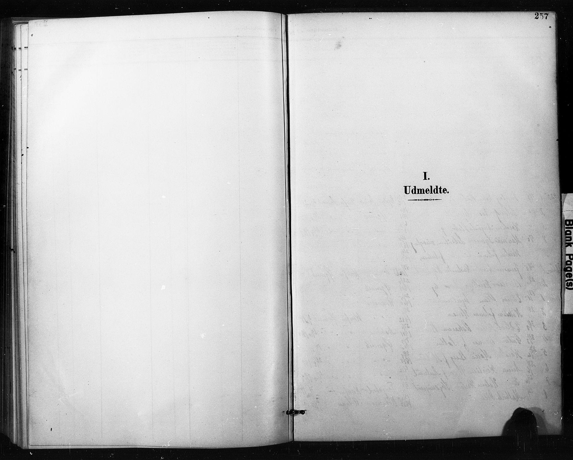 SAO, Aremark prestekontor Kirkebøker, G/Gb/L0001: Klokkerbok nr. II 1, 1901-1927, s. 257