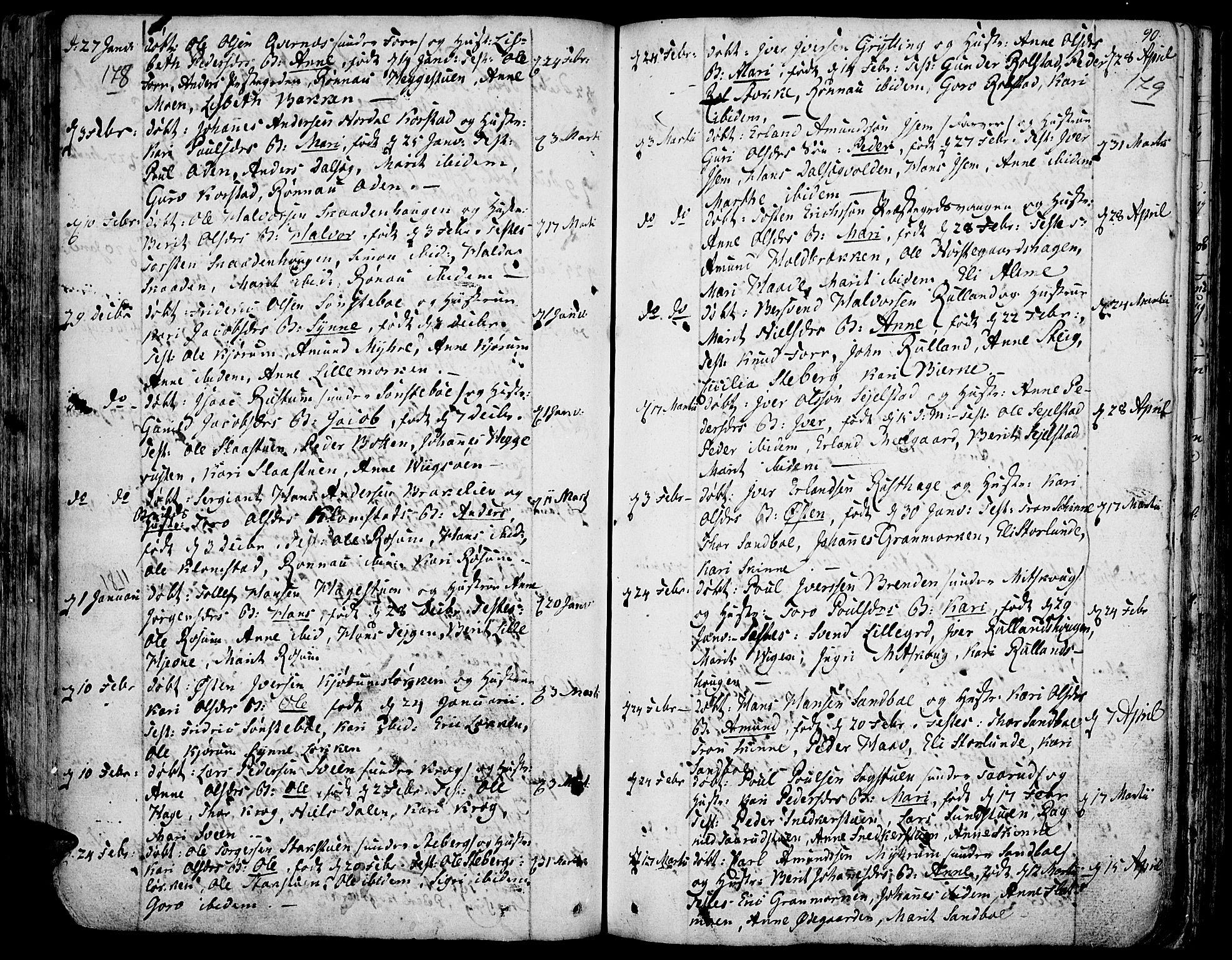 SAH, Fron prestekontor, H/Ha/Haa/L0001: Ministerialbok nr. 1, 1799-1816, s. 178-179