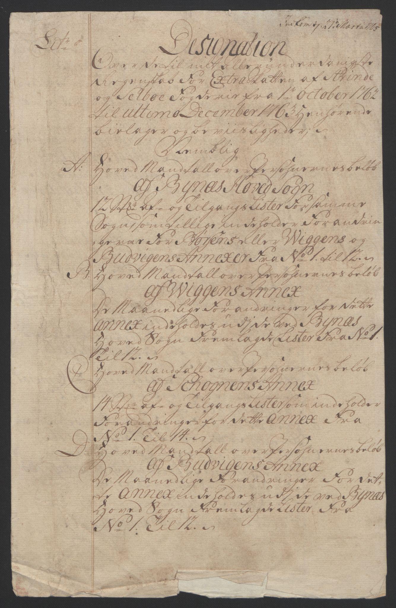 RA, Rentekammeret inntil 1814, Reviderte regnskaper, Fogderegnskap, R61/L4180: Ekstraskatten Strinda og Selbu, 1762-1767, s. 20
