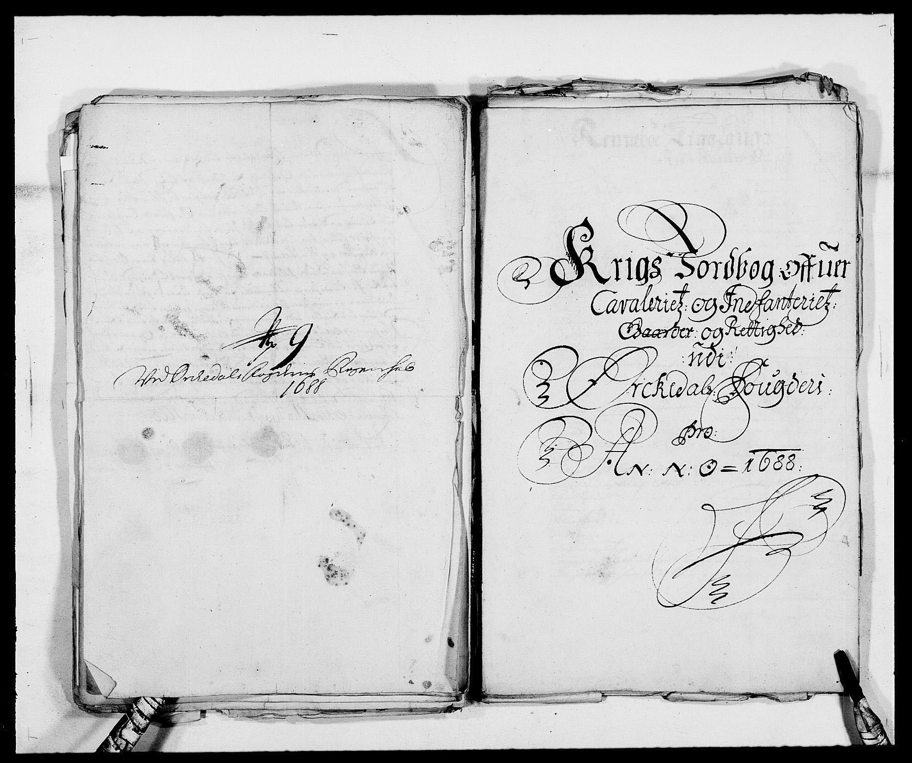 RA, Rentekammeret inntil 1814, Reviderte regnskaper, Fogderegnskap, R58/L3935: Fogderegnskap Orkdal, 1687-1688, s. 372